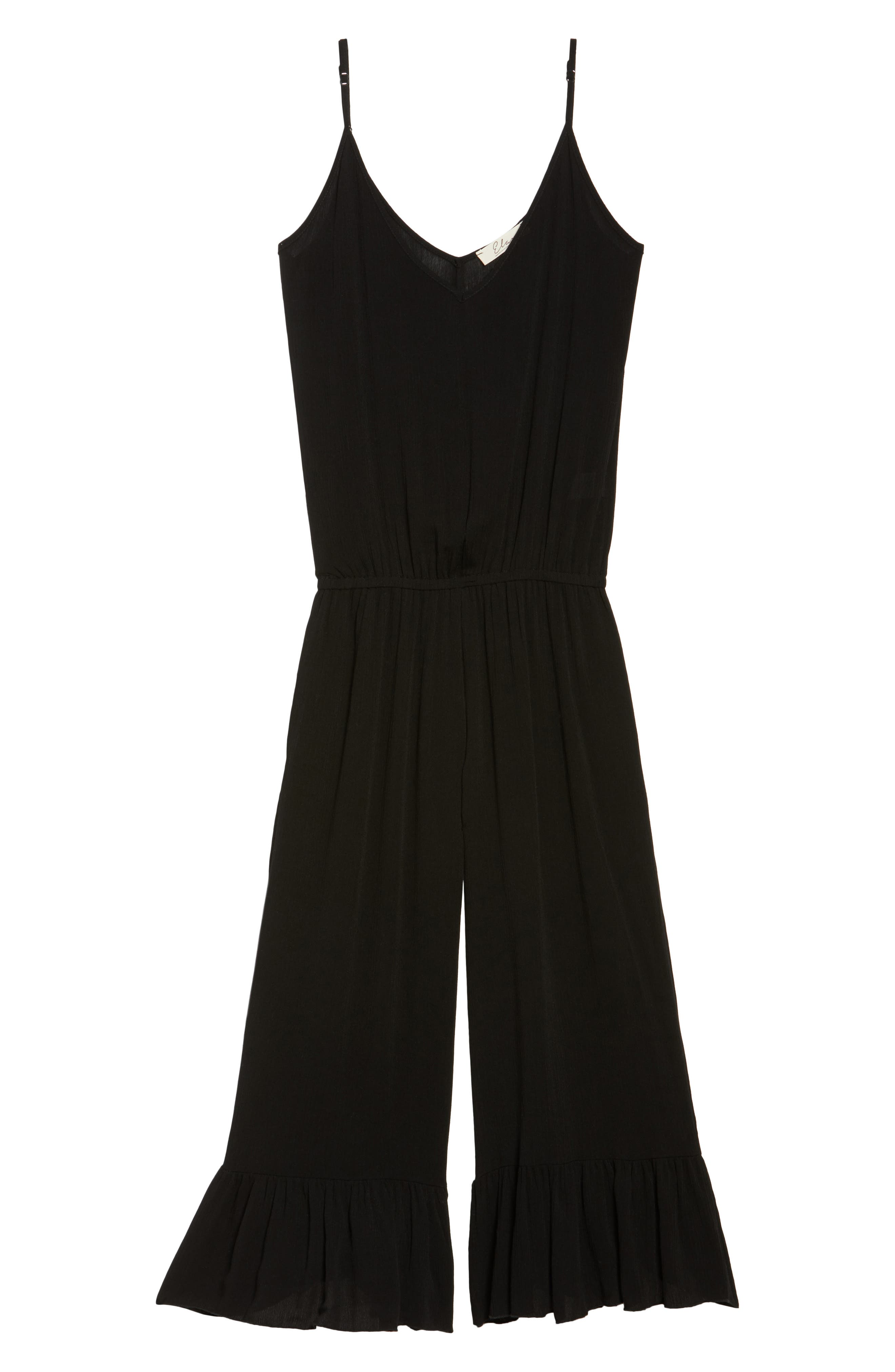 Culotte Cover-Up Jumpsuit,                             Alternate thumbnail 6, color,                             Black