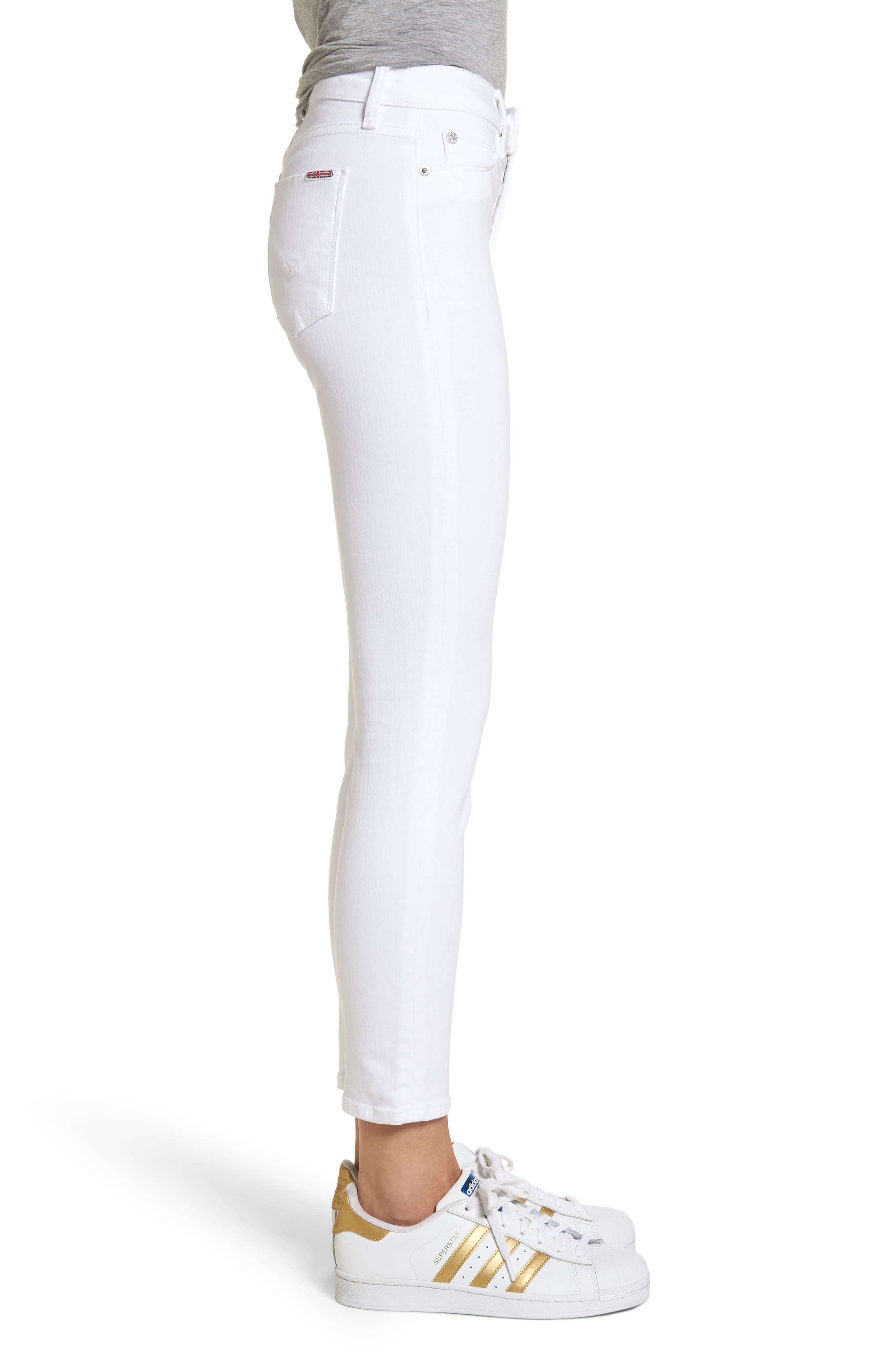 Tally Ankle Skinny Jeans,                             Alternate thumbnail 3, color,                             Optical White