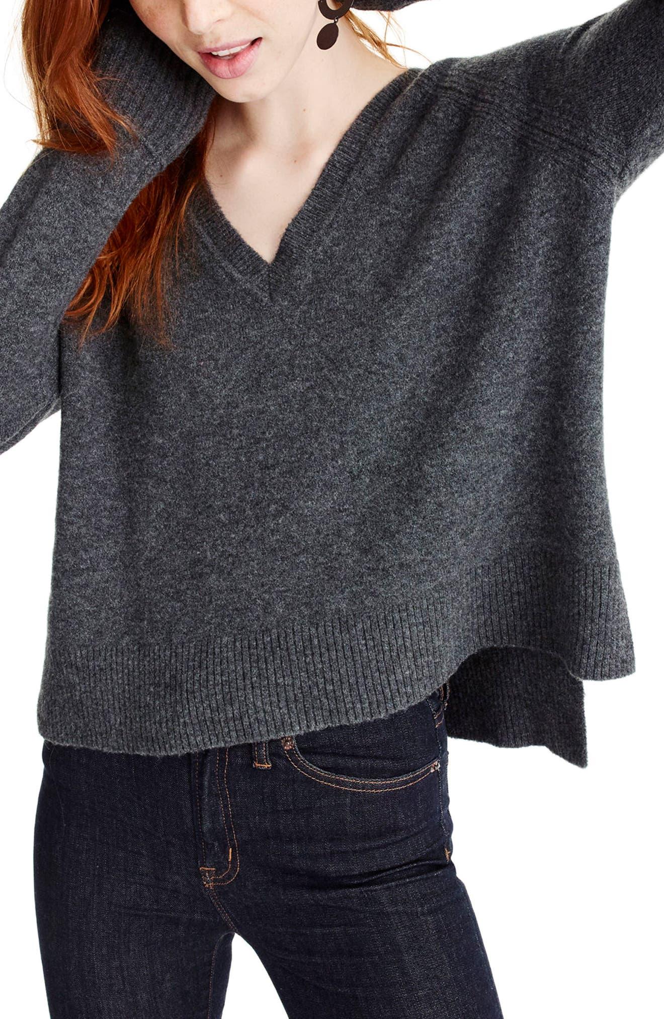 Alternate Image 1 Selected - J.Crew Supersoft Yarn V-Neck Sweater