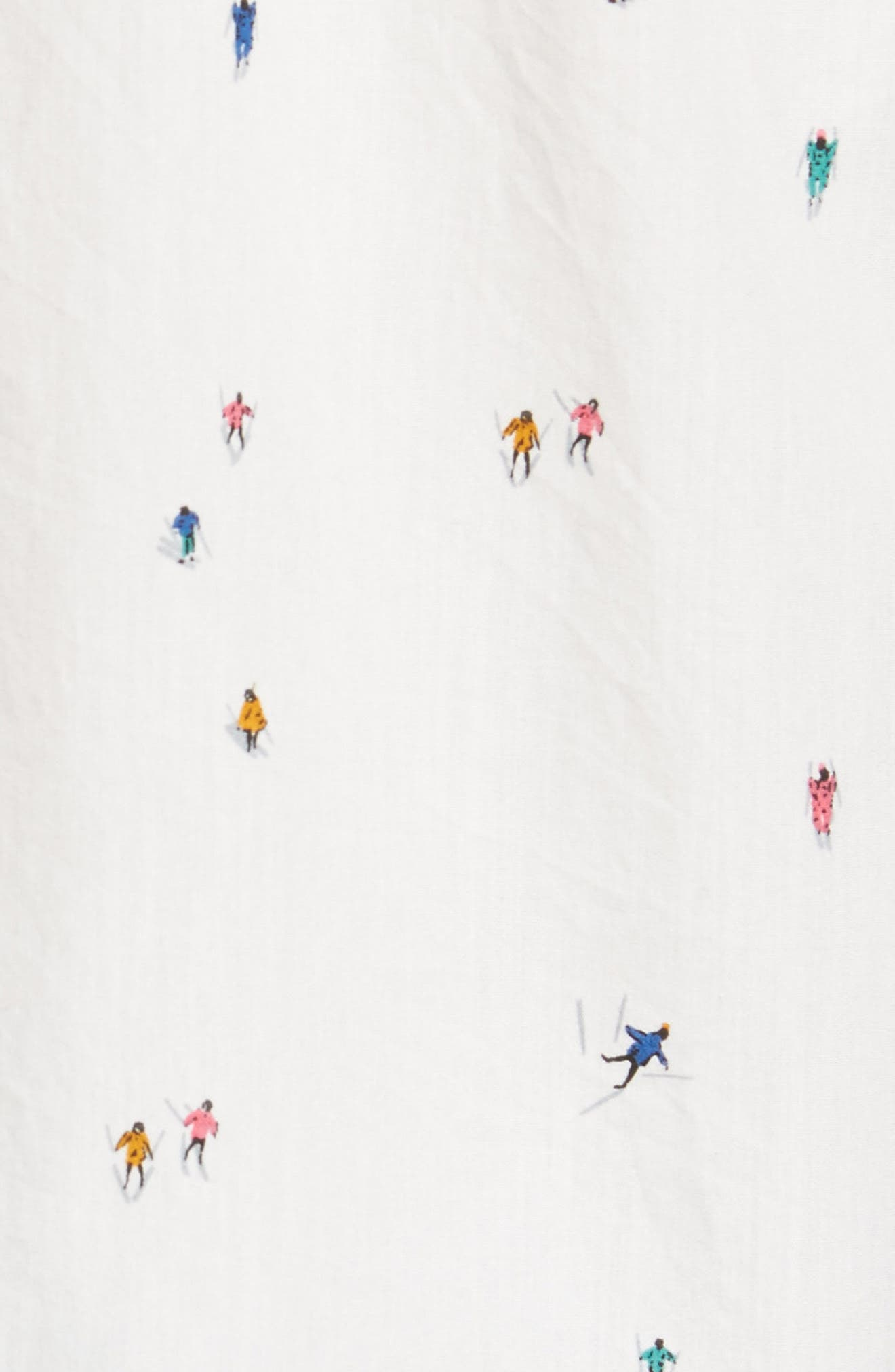 Slim Fit Skier Print Sport Shirt,                             Alternate thumbnail 5, color,                             Downhill Print