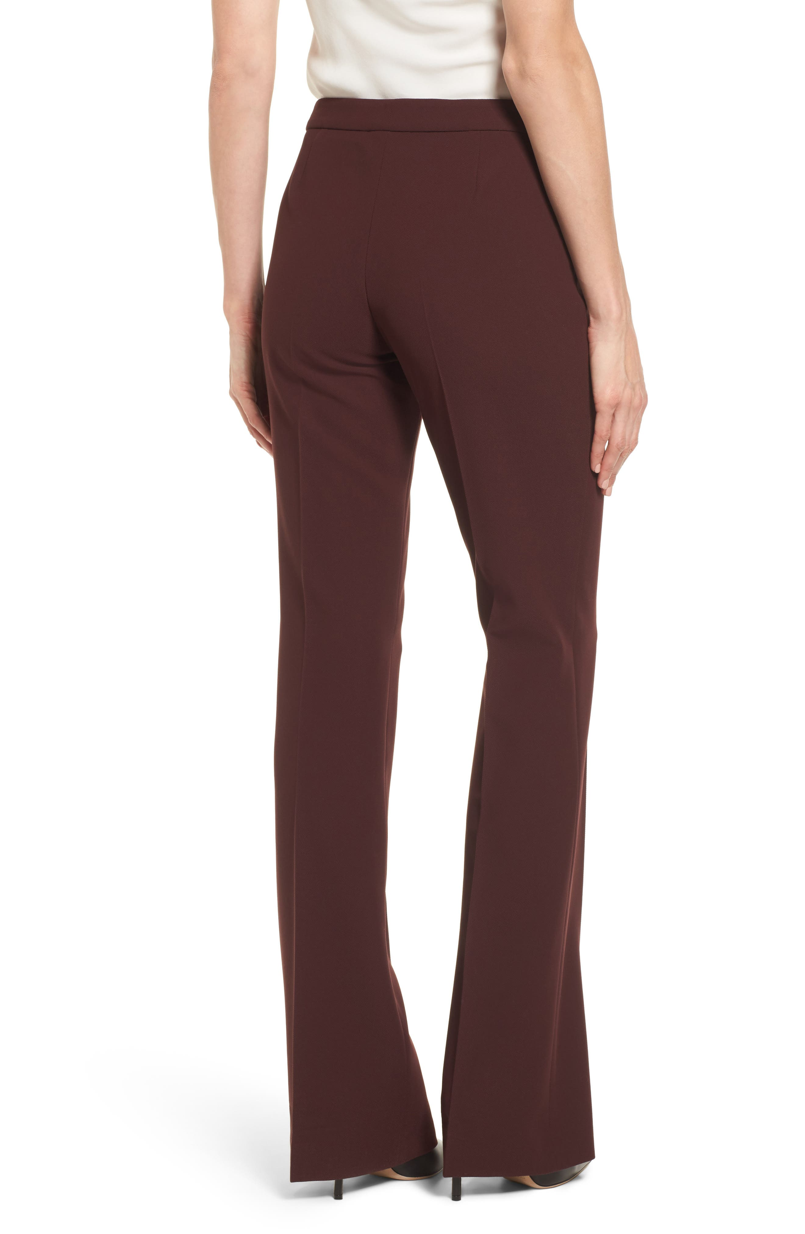 Side Zip Suit Trousers,                             Alternate thumbnail 3, color,                             Mulberry