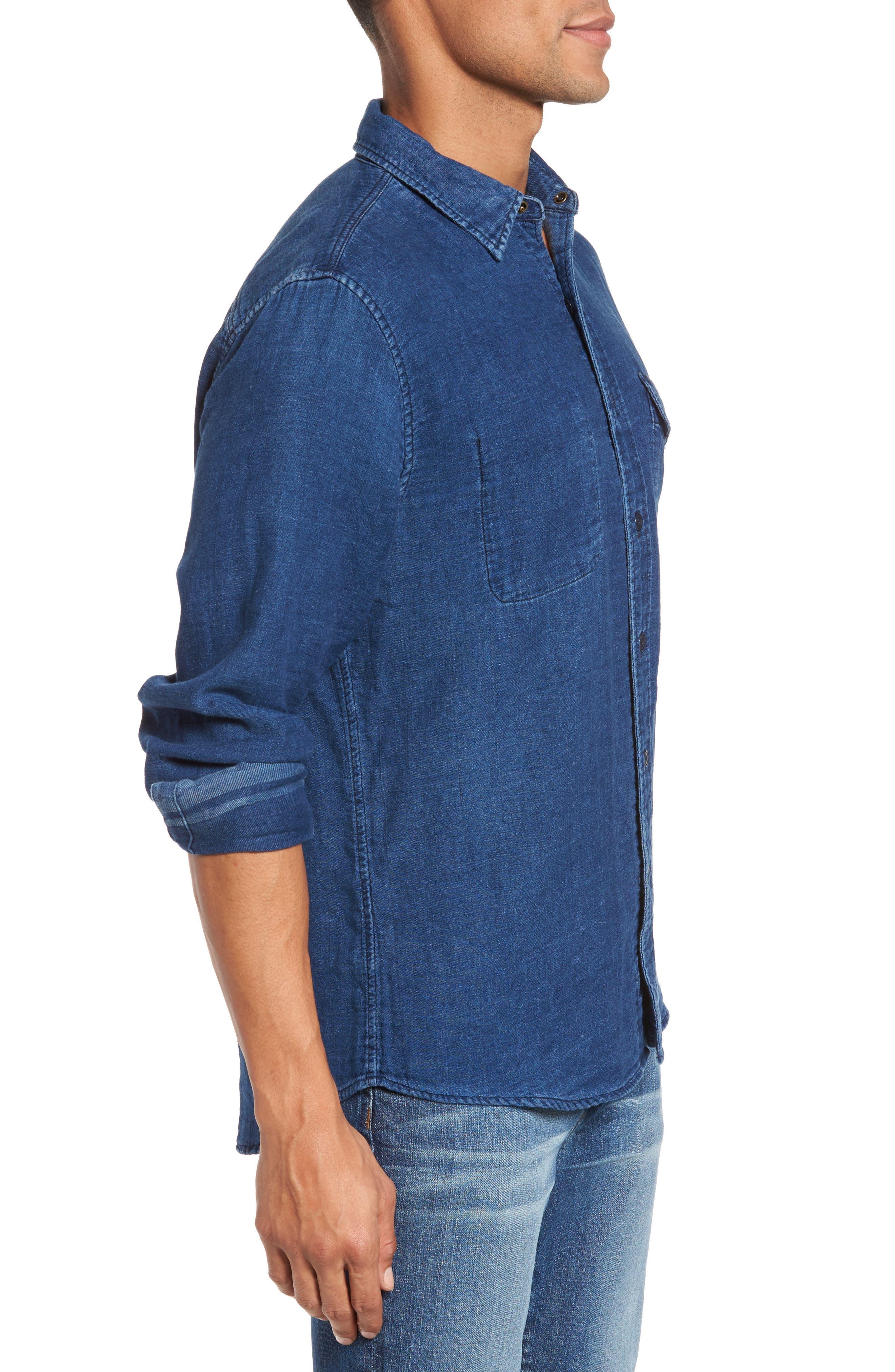 Alternate Image 3  - Faherty Brand Belmar Reversible Work Shirt