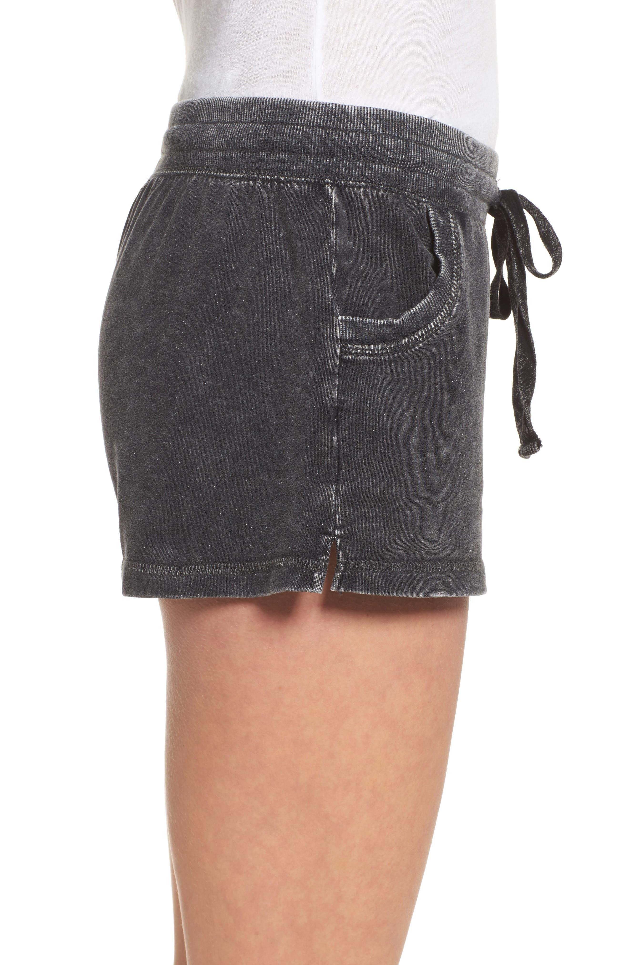 Lounge Shorts,                             Alternate thumbnail 3, color,                             Black