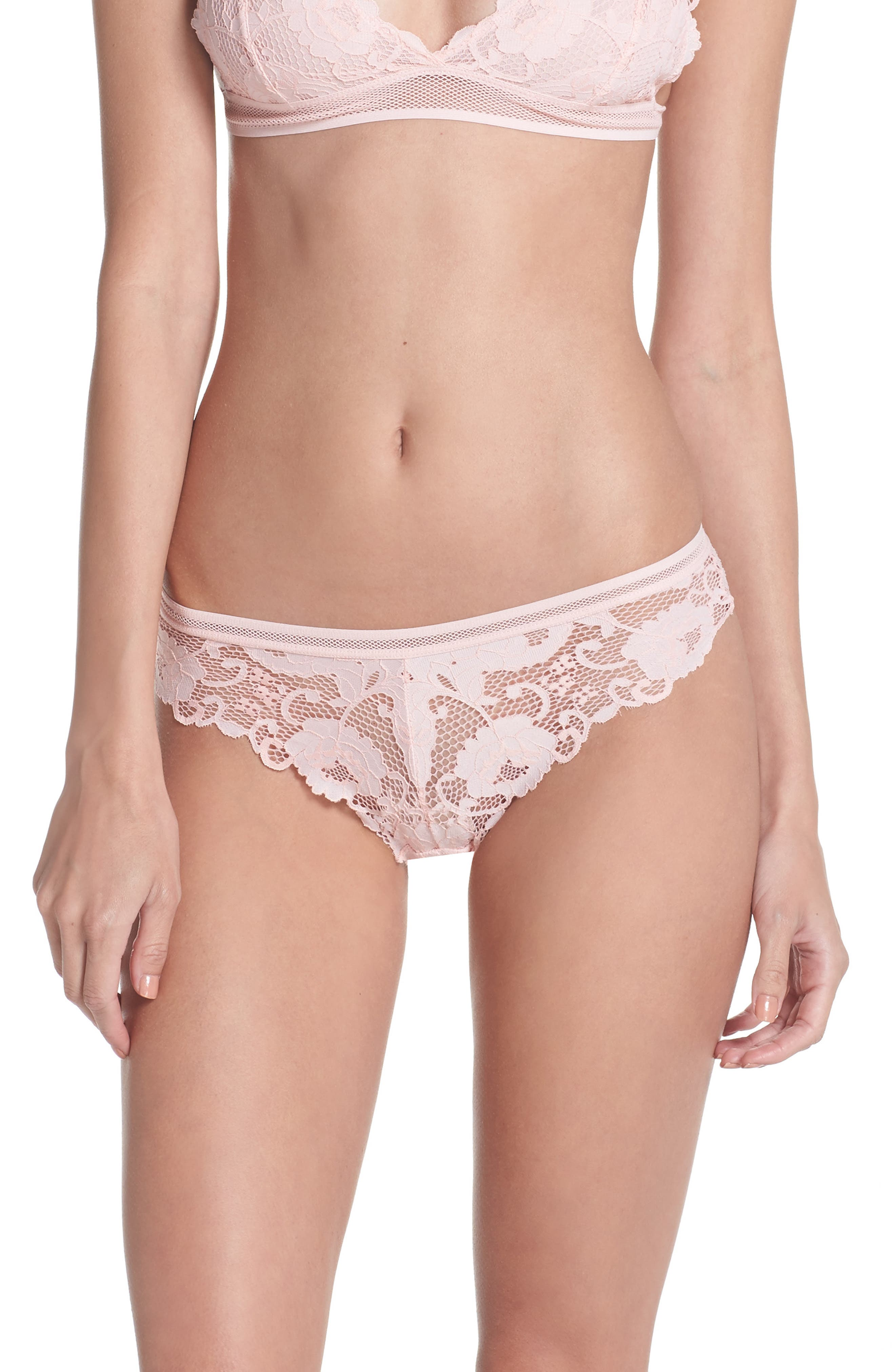 Lace Thong,                         Main,                         color, Dusty Pink