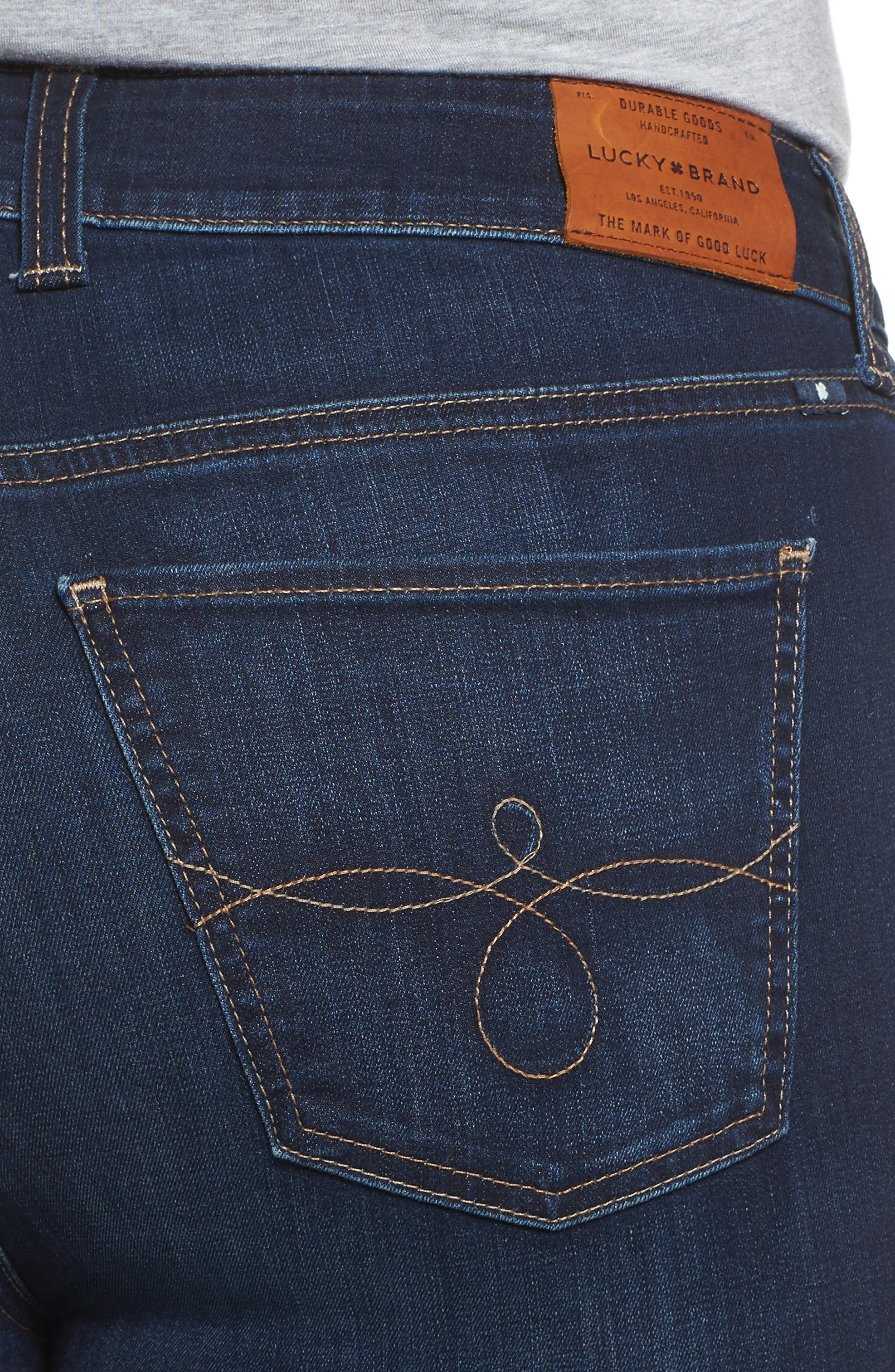 Alternate Image 4  - Lucky Brand Ginger Bootcut Jeans (Twilight Blue) (Plus Size)