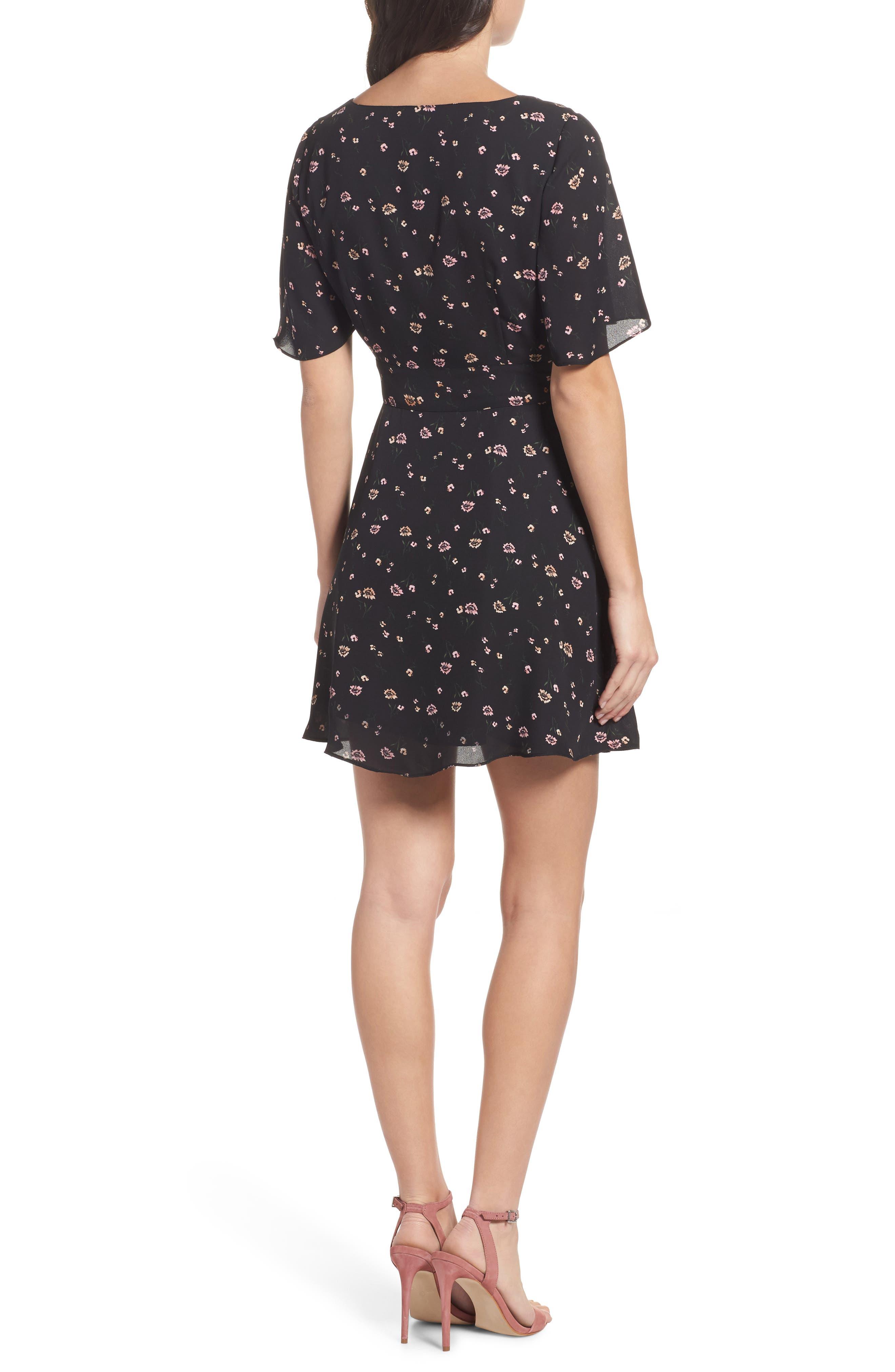 Lettie Dress,                             Alternate thumbnail 2, color,                             Black