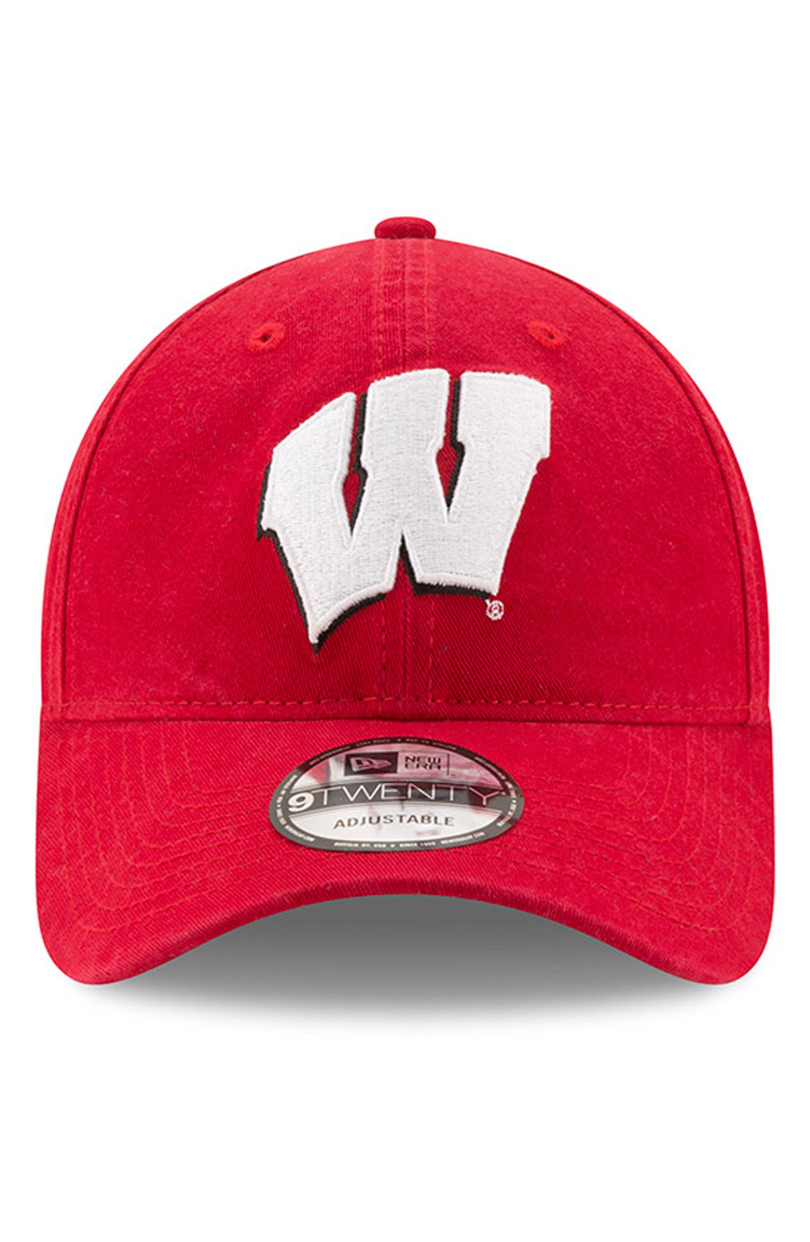 New Era Collegiate Core Classic - Wisconsin Badgers Baseball Cap,                             Alternate thumbnail 5, color,                             Wisconsin Badgers