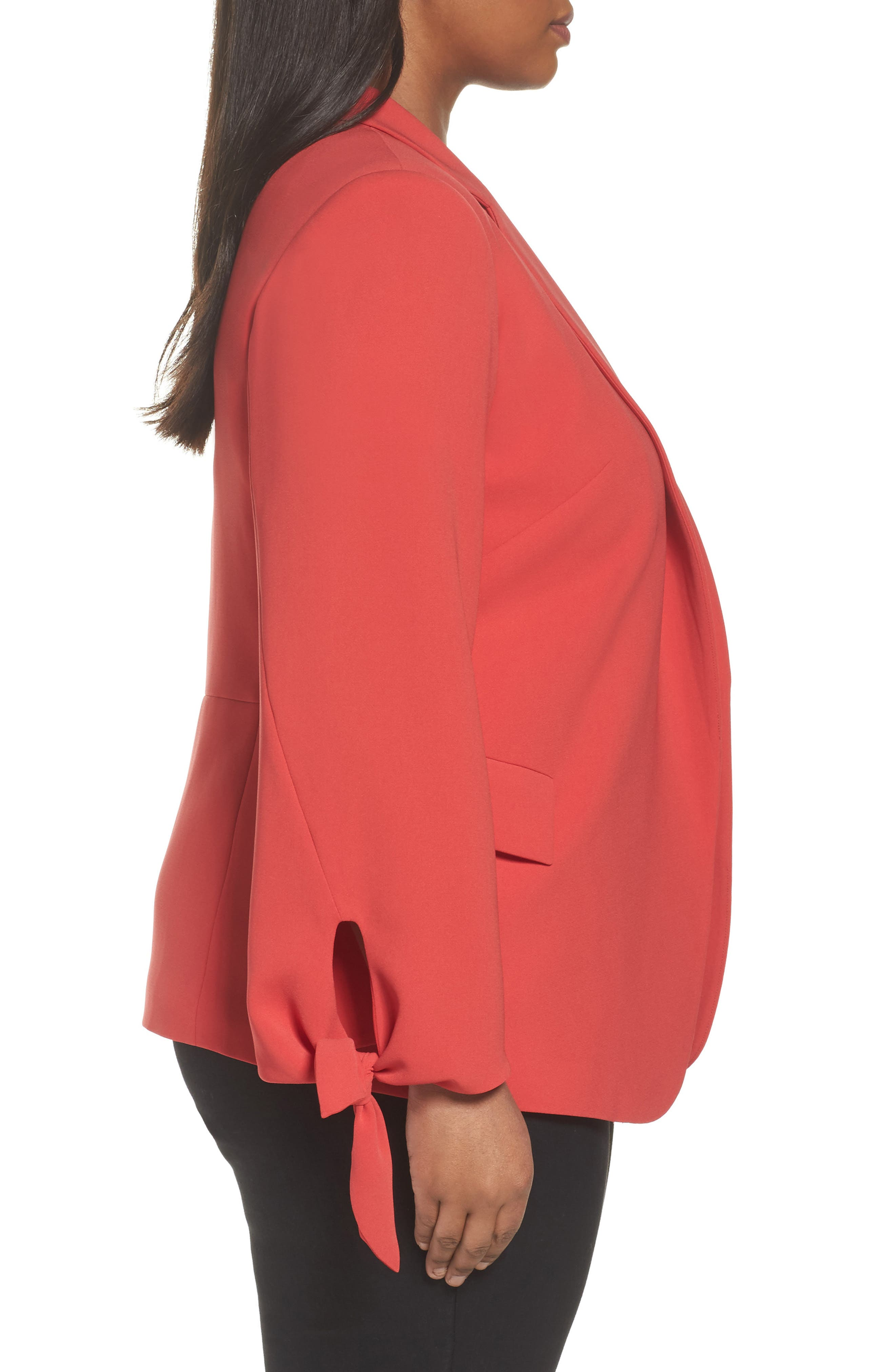 Bria Finesse Crepe Jacket,                             Alternate thumbnail 3, color,                             Salsa