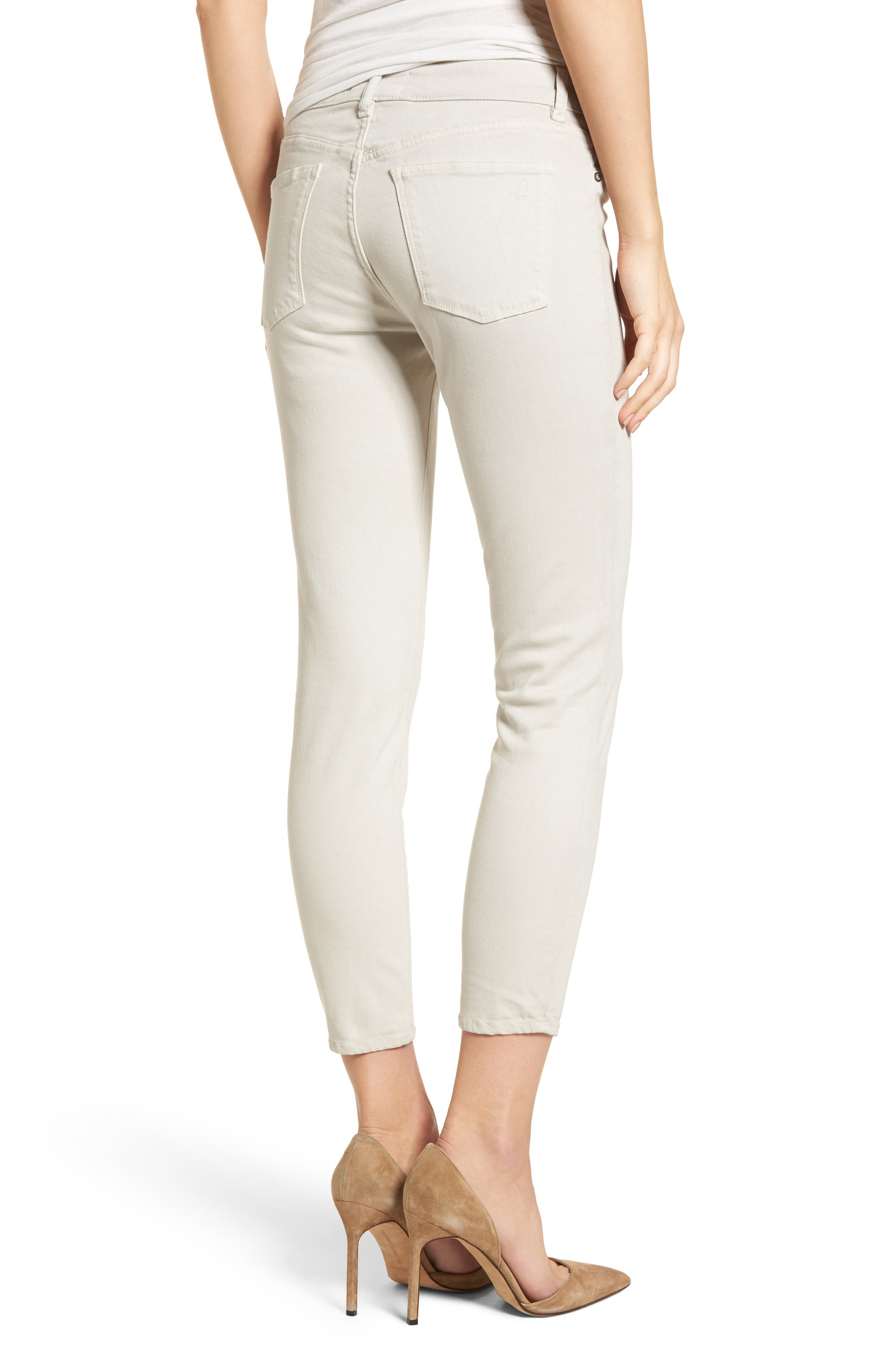 Florence Crop Skinny Jeans,                             Alternate thumbnail 2, color,                             Bone
