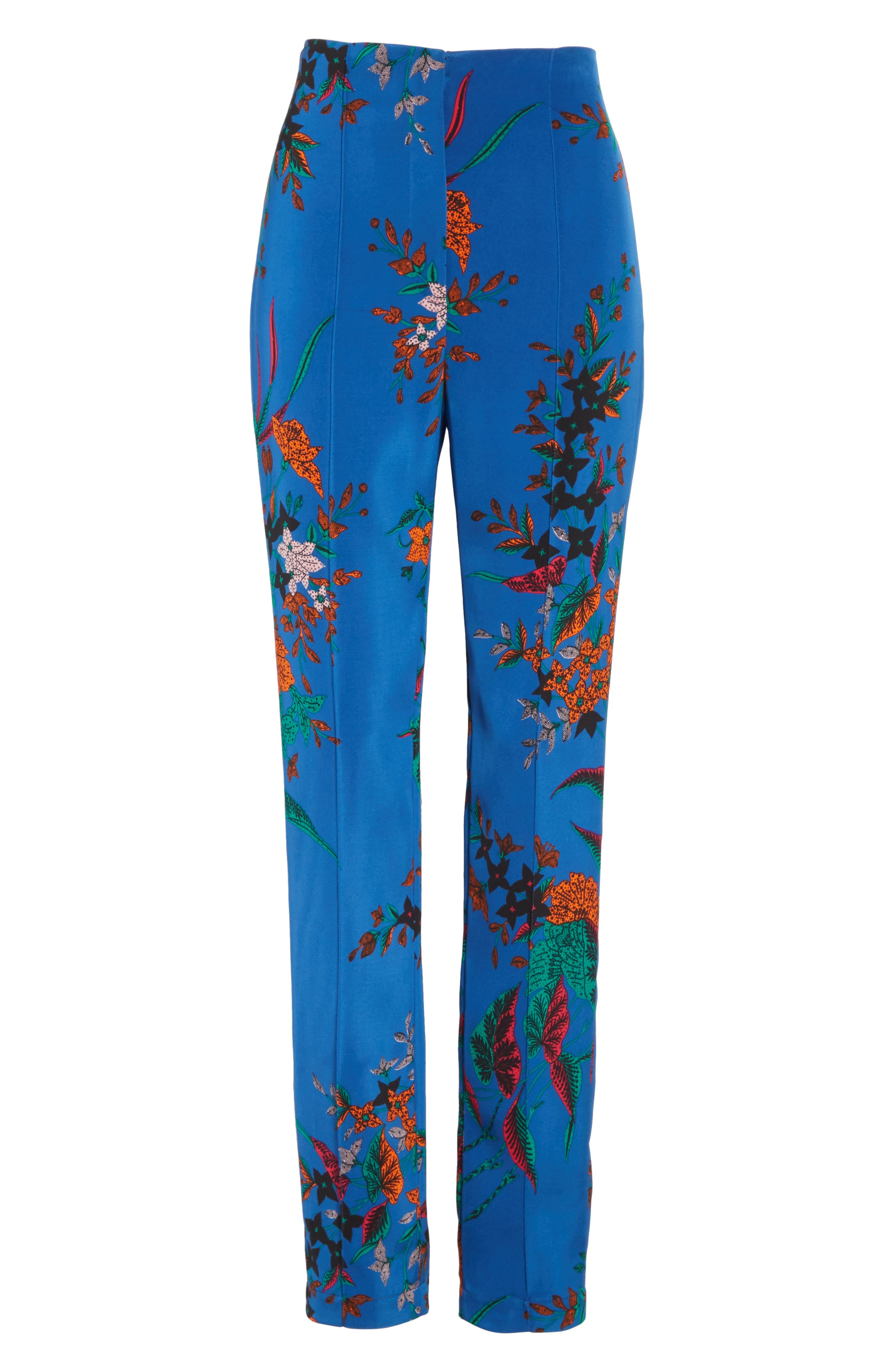 High Waist Print Skinny Pants,                             Alternate thumbnail 6, color,                             Camden Cove