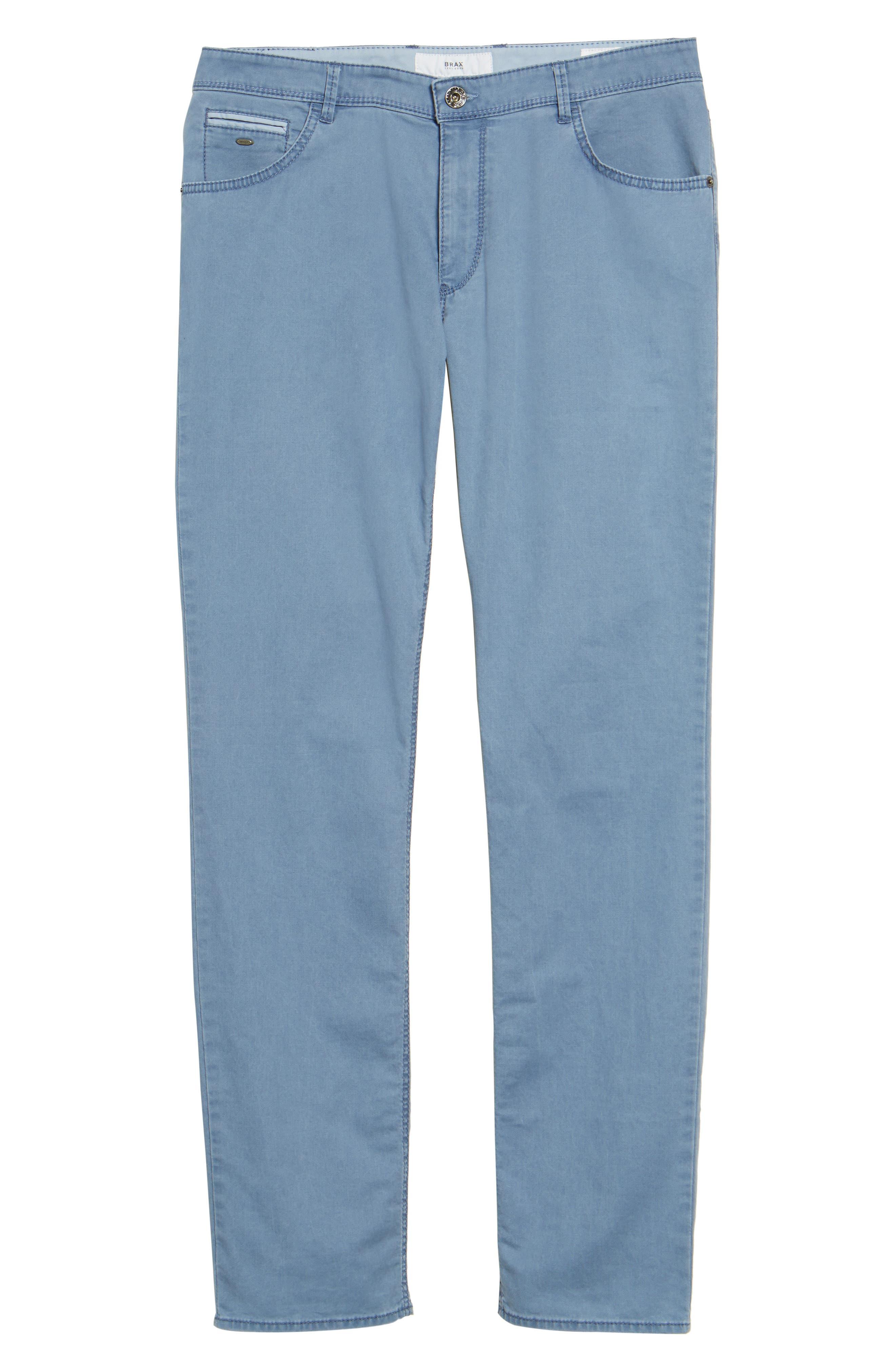Chuck Flat Front Stretch Cotton Pants,                             Alternate thumbnail 6, color,                             Sky Blue