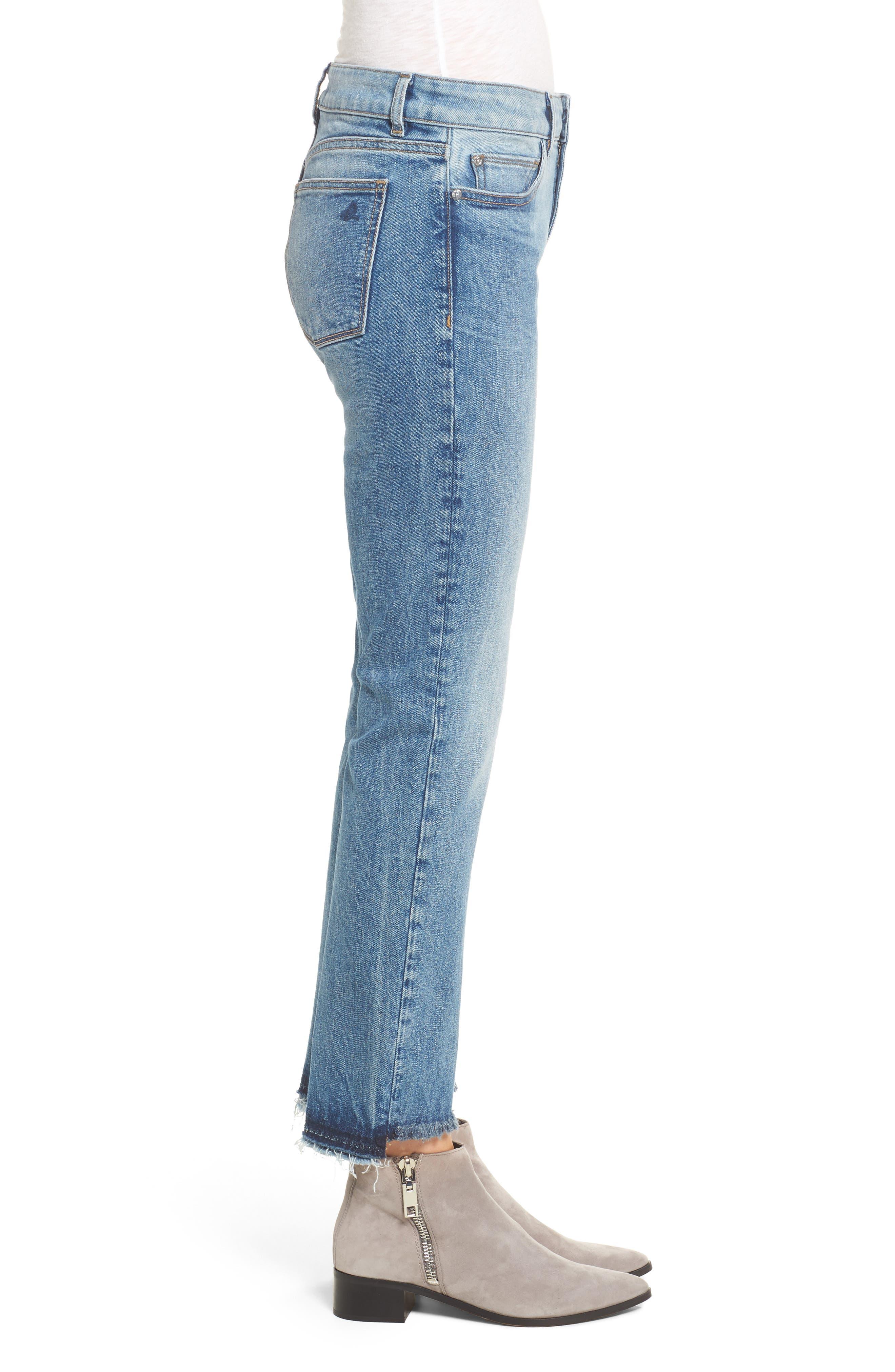 Mara Step Hem Ankle Jeans,                             Alternate thumbnail 3, color,                             Brookside