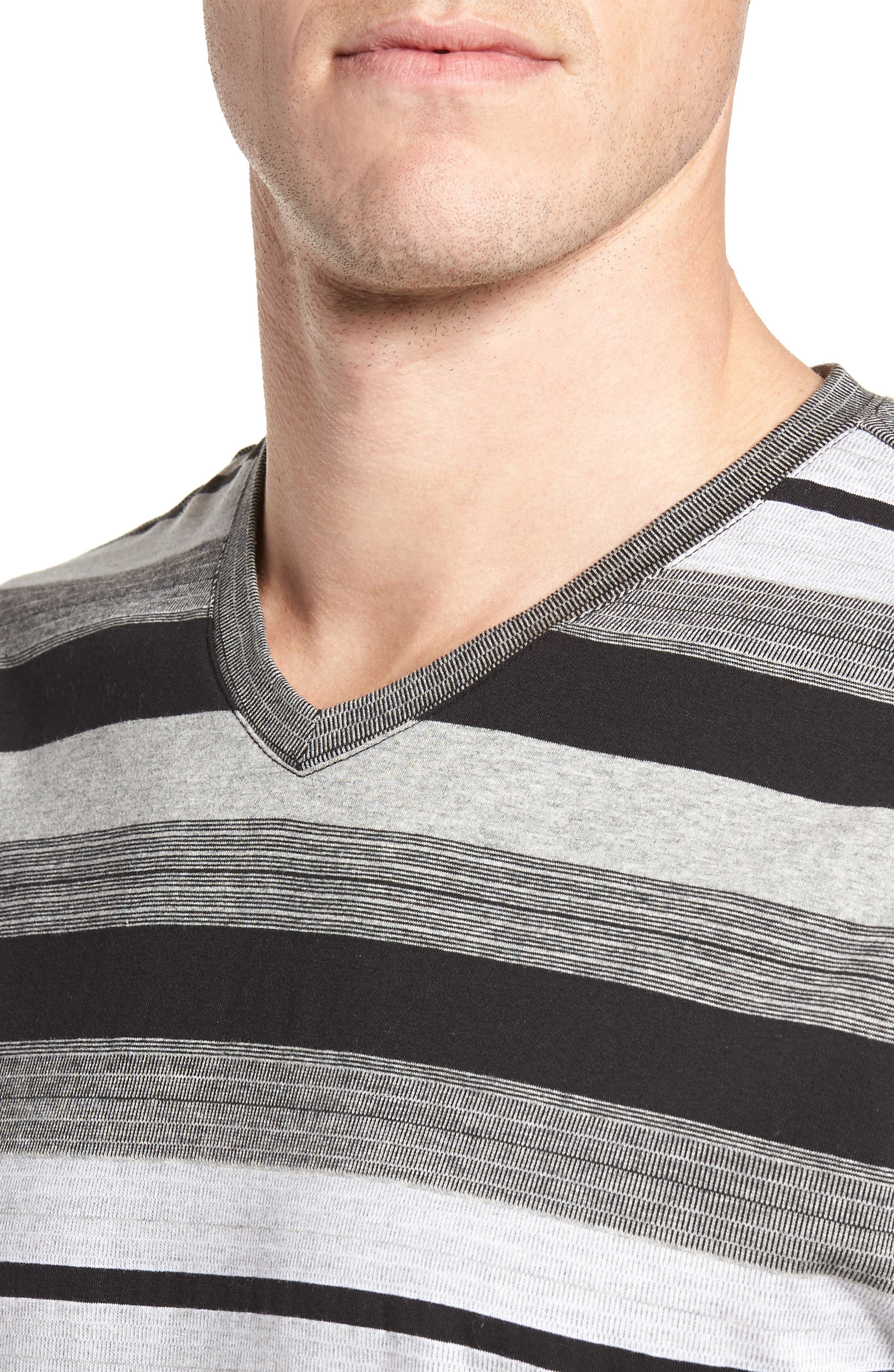 Alternate Image 4  - Majestic International Stripe V-Neck T-Shirt