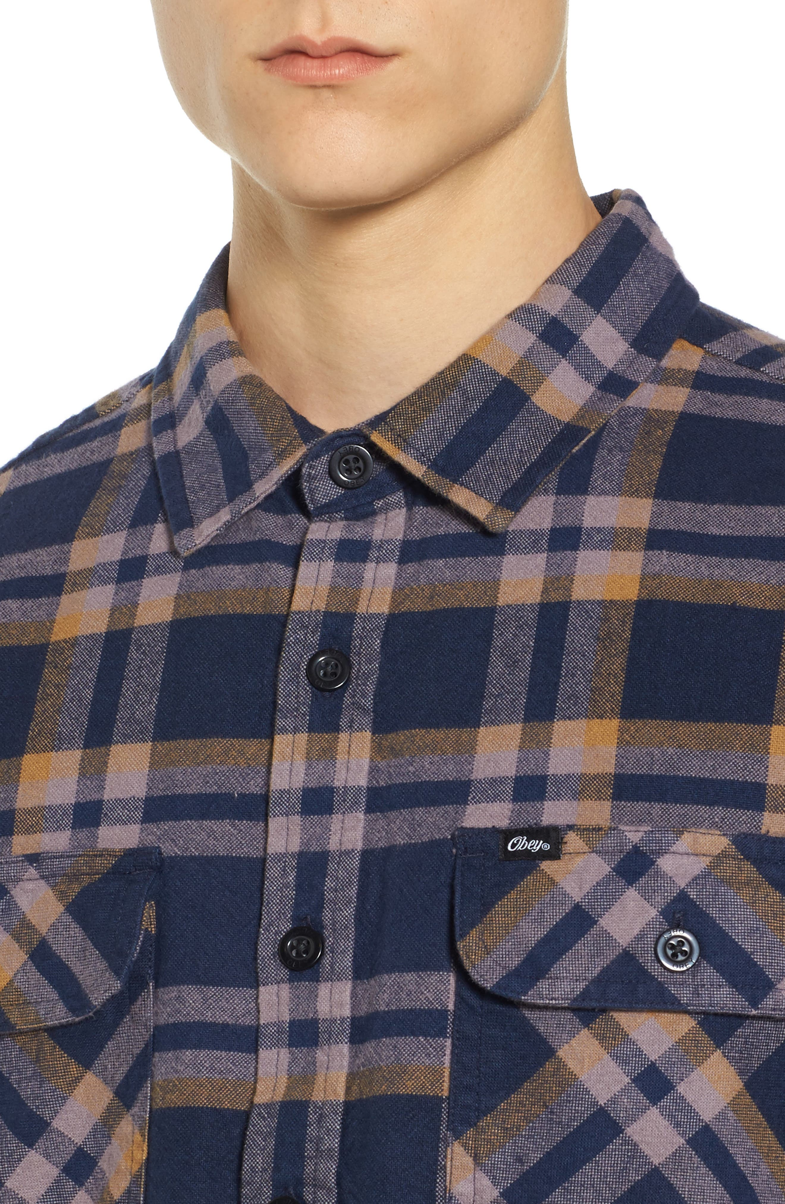 Alternate Image 4  - Obey Plaid Flannel Shirt