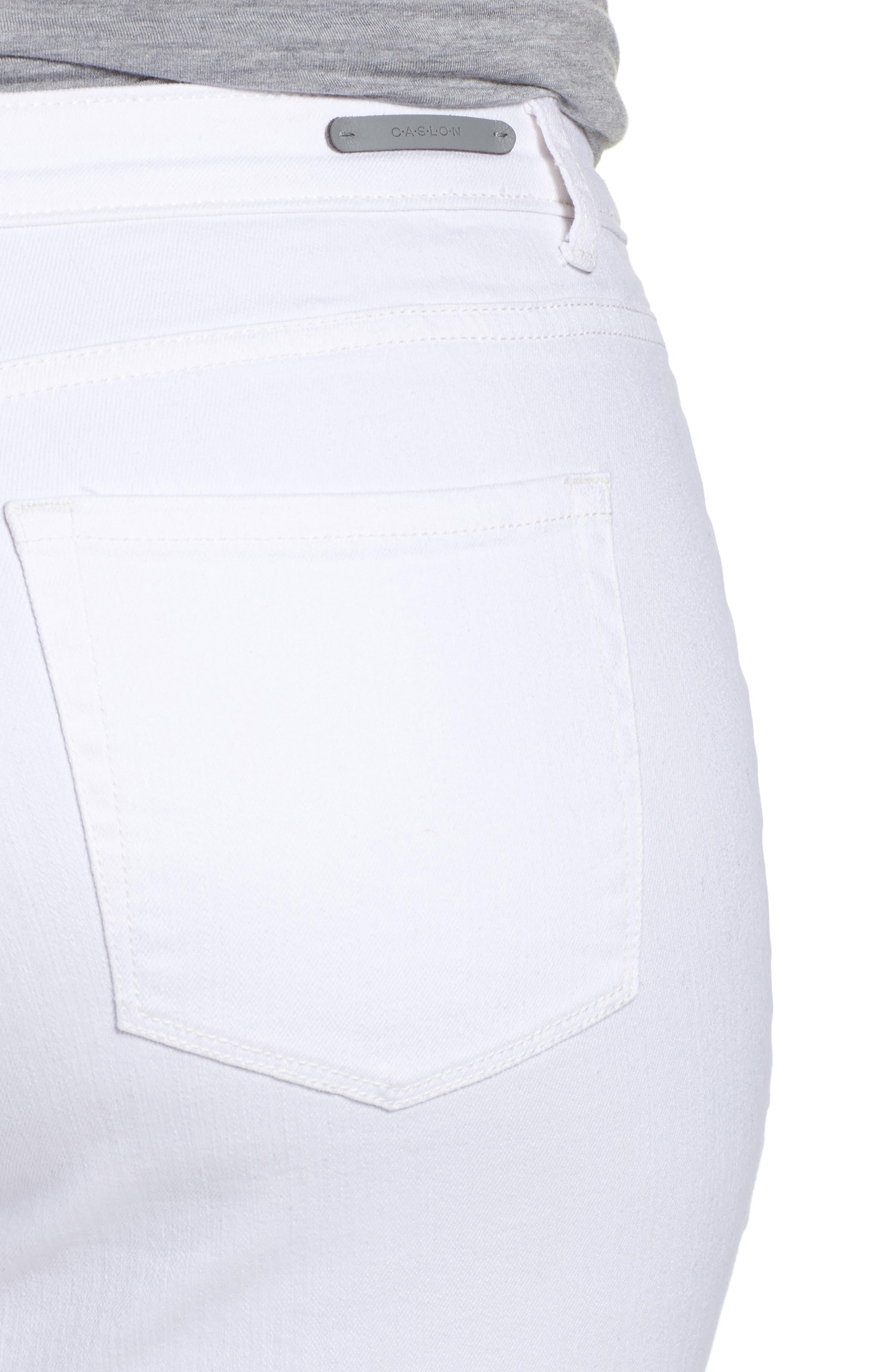Release Hem Skinny Jeans,                             Alternate thumbnail 4, color,                             White
