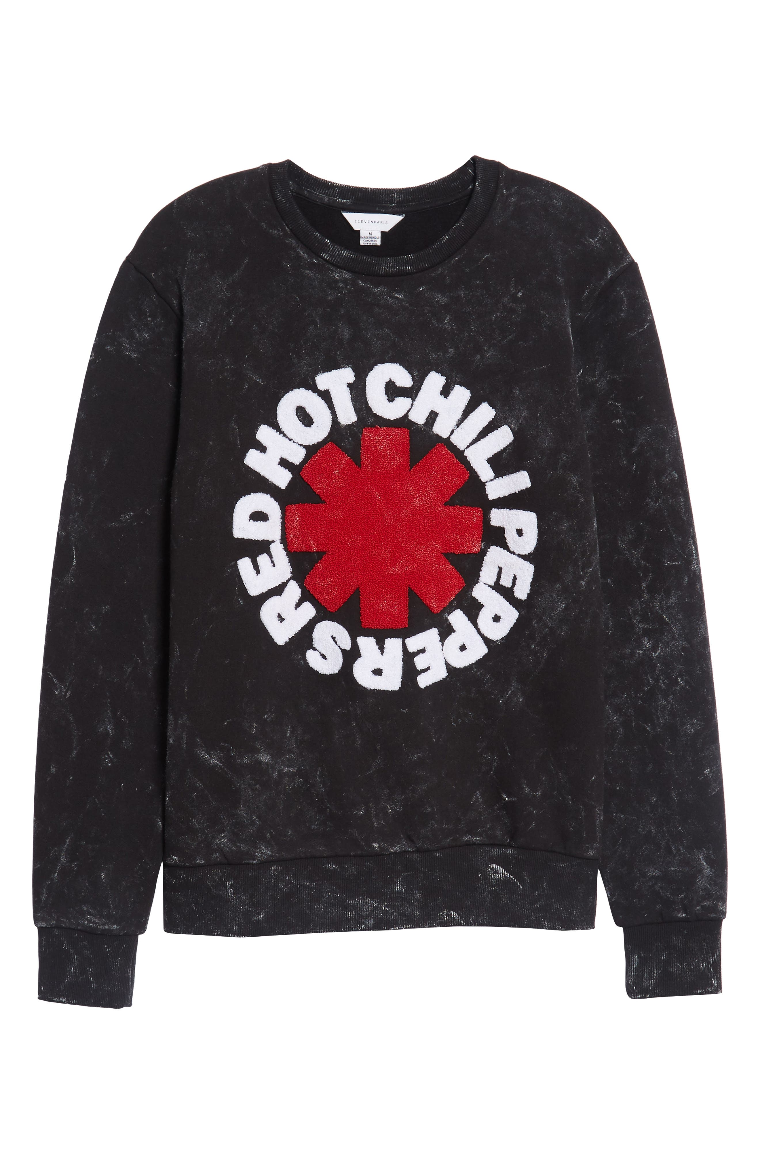 Red Hot Chili Peppers Sweatshirt,                             Alternate thumbnail 6, color,                             Acid Black