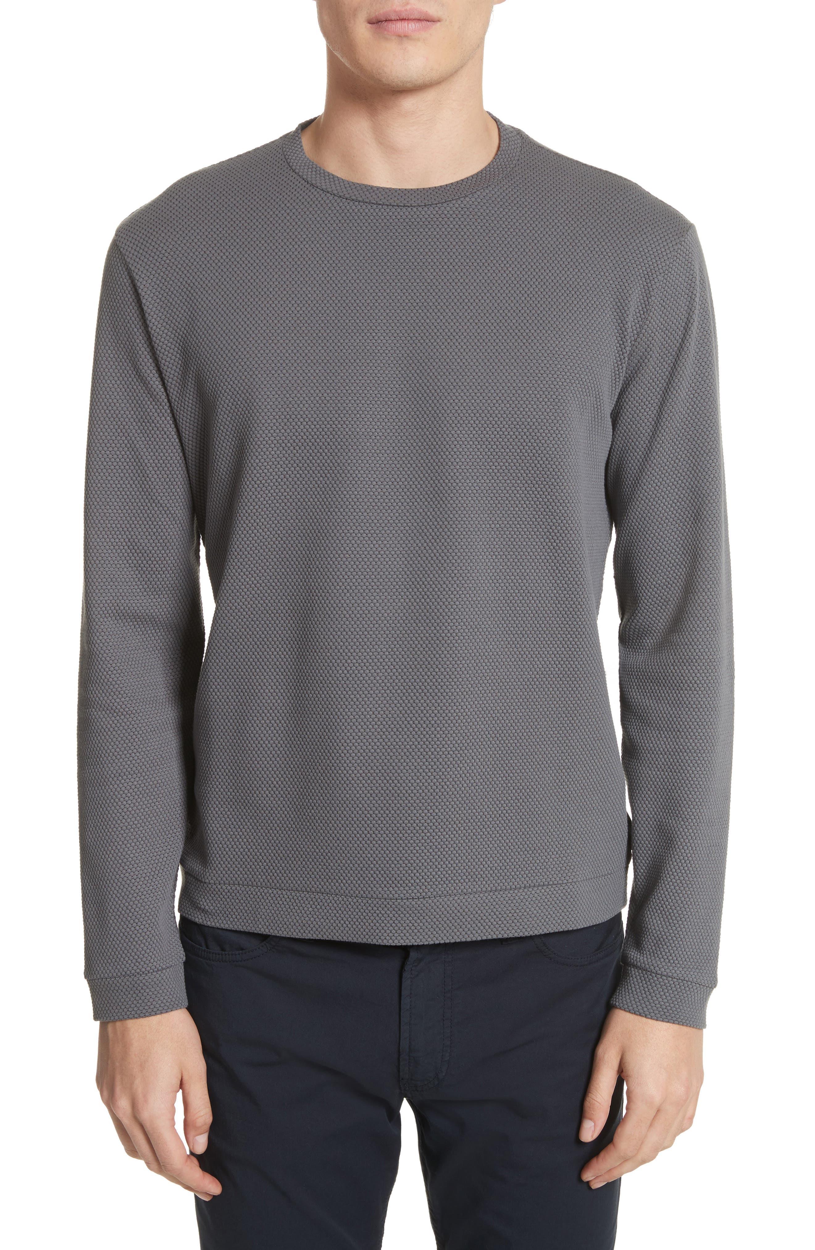 Alternate Image 1 Selected - Emporio Armani Honeycomb Jacquard Slim Fit T-Shirt