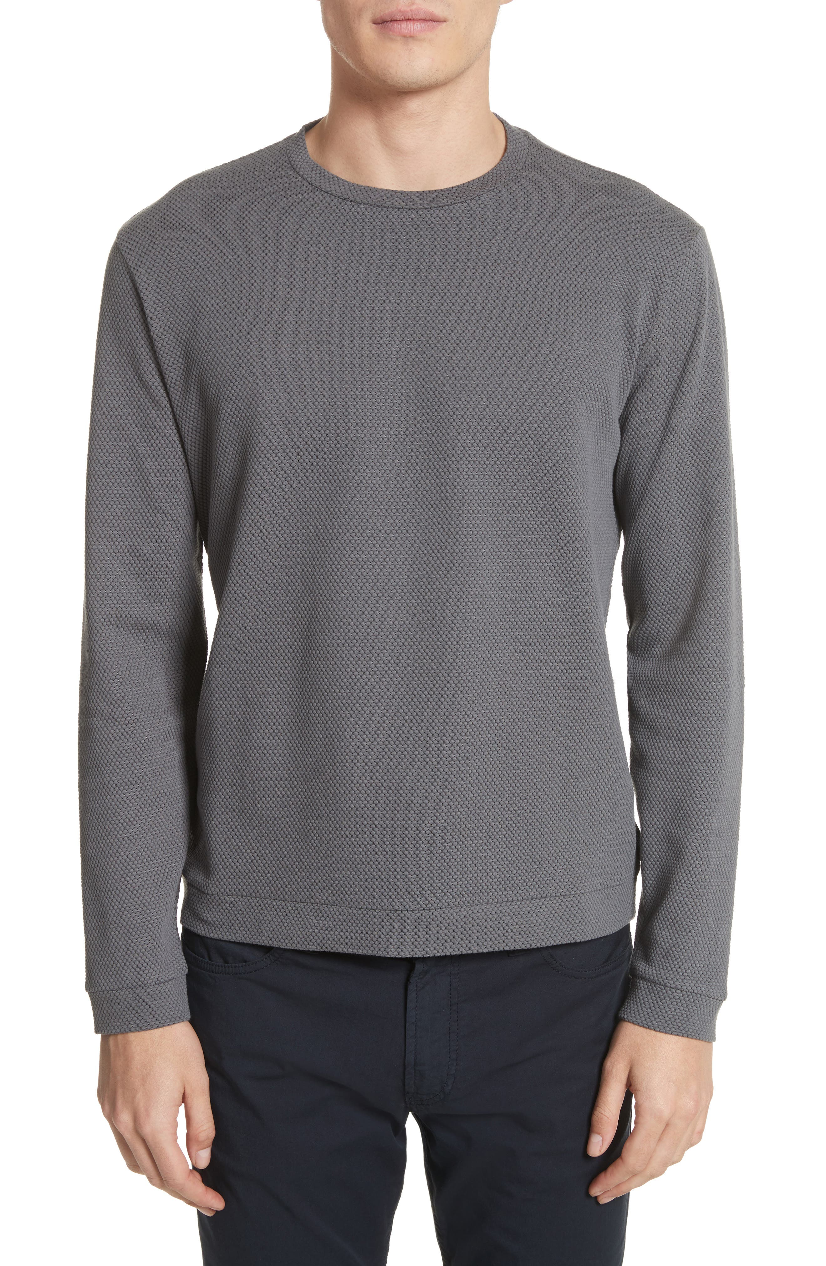 Main Image - Emporio Armani Honeycomb Jacquard Slim Fit T-Shirt