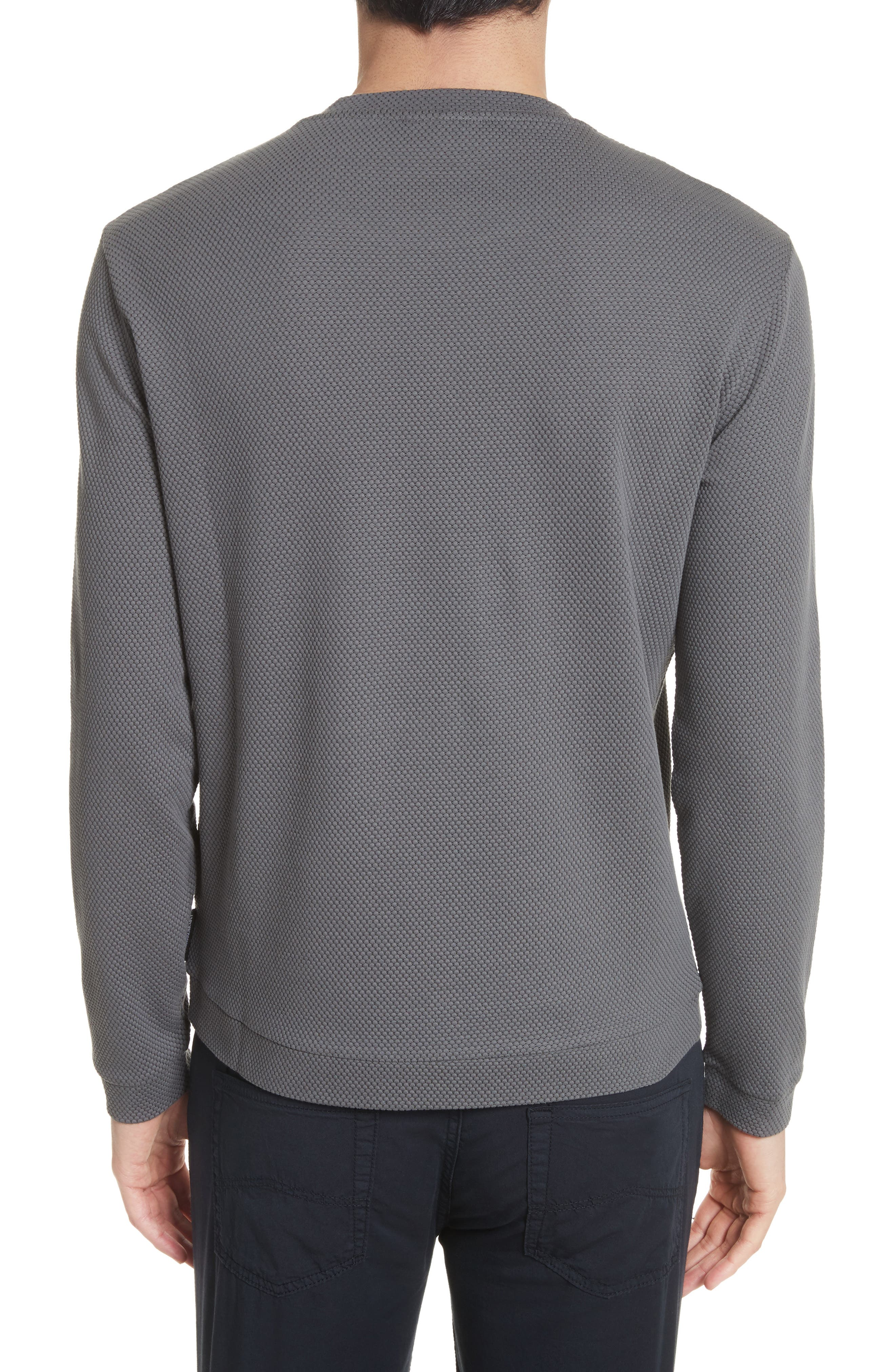Alternate Image 2  - Emporio Armani Honeycomb Jacquard Slim Fit T-Shirt