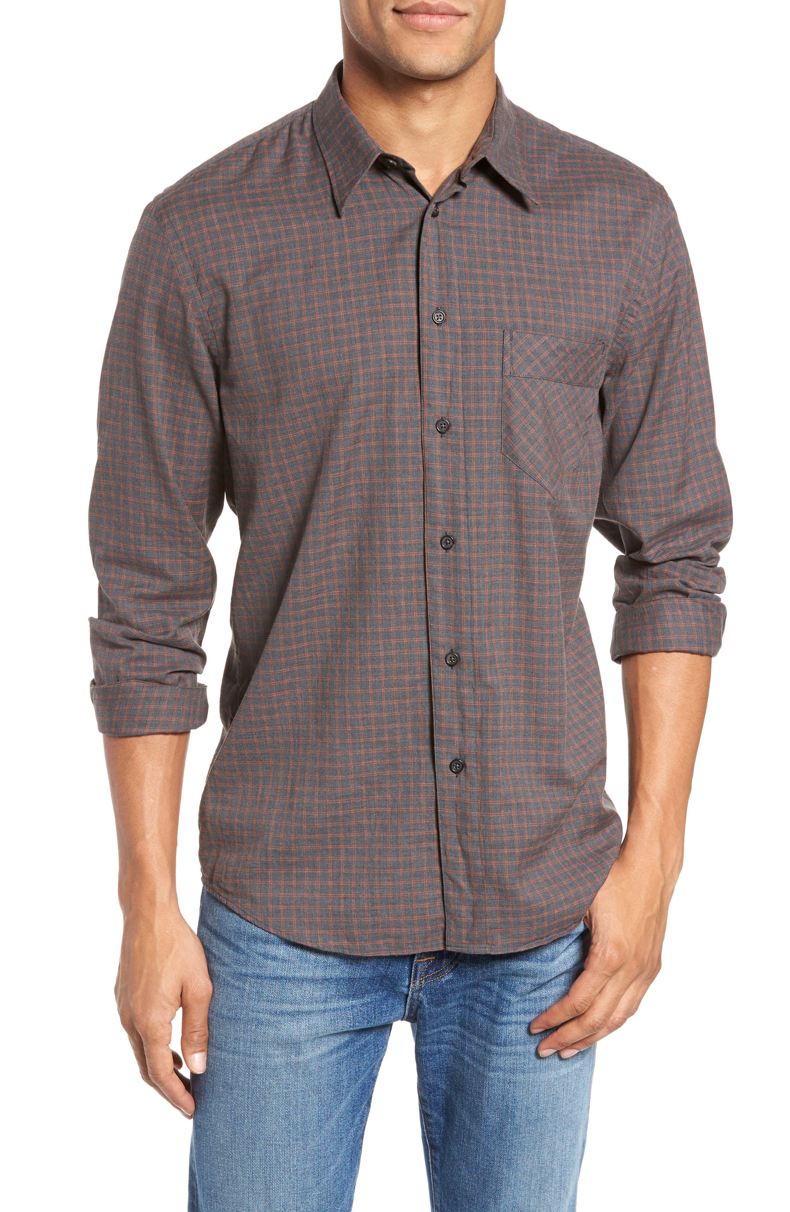 Billy Reid Walland Standard Fit Check Sport Shirt