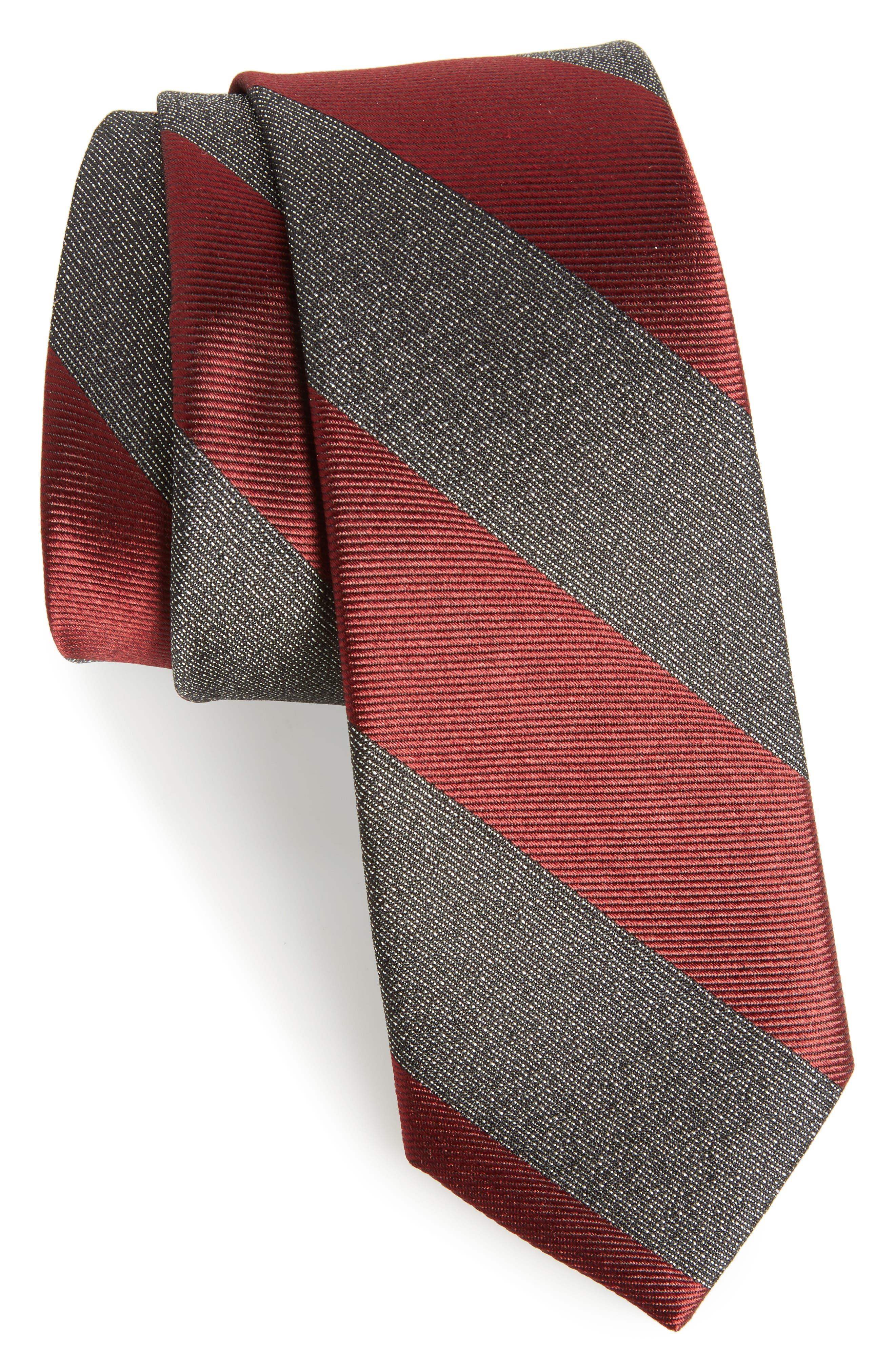 Calibrate Marble Stripe Silk Tie