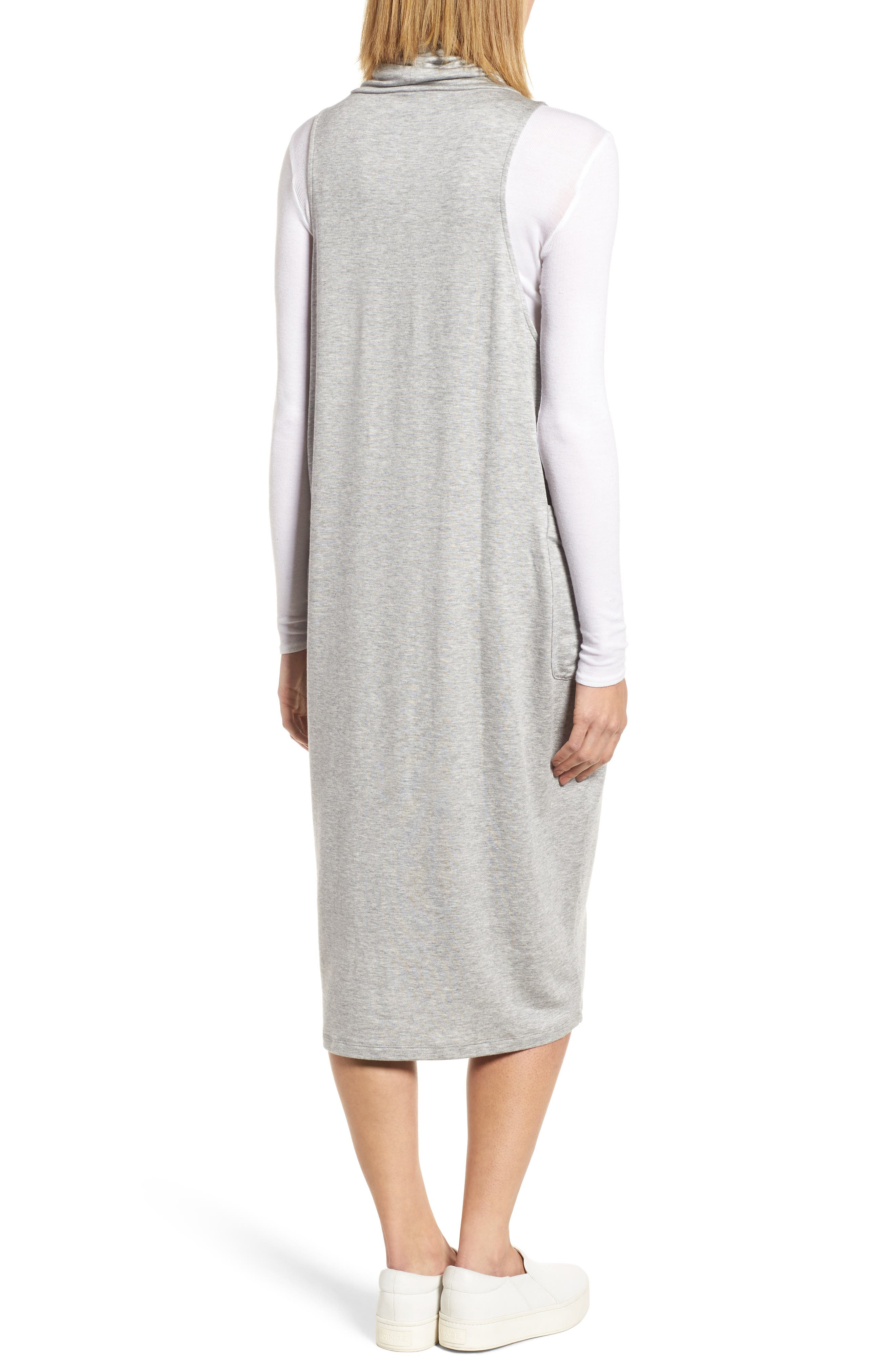 Stretch Tencel<sup>®</sup> Lyocell Knit Jumper Dress,                             Alternate thumbnail 4, color,                             Dark Pearl