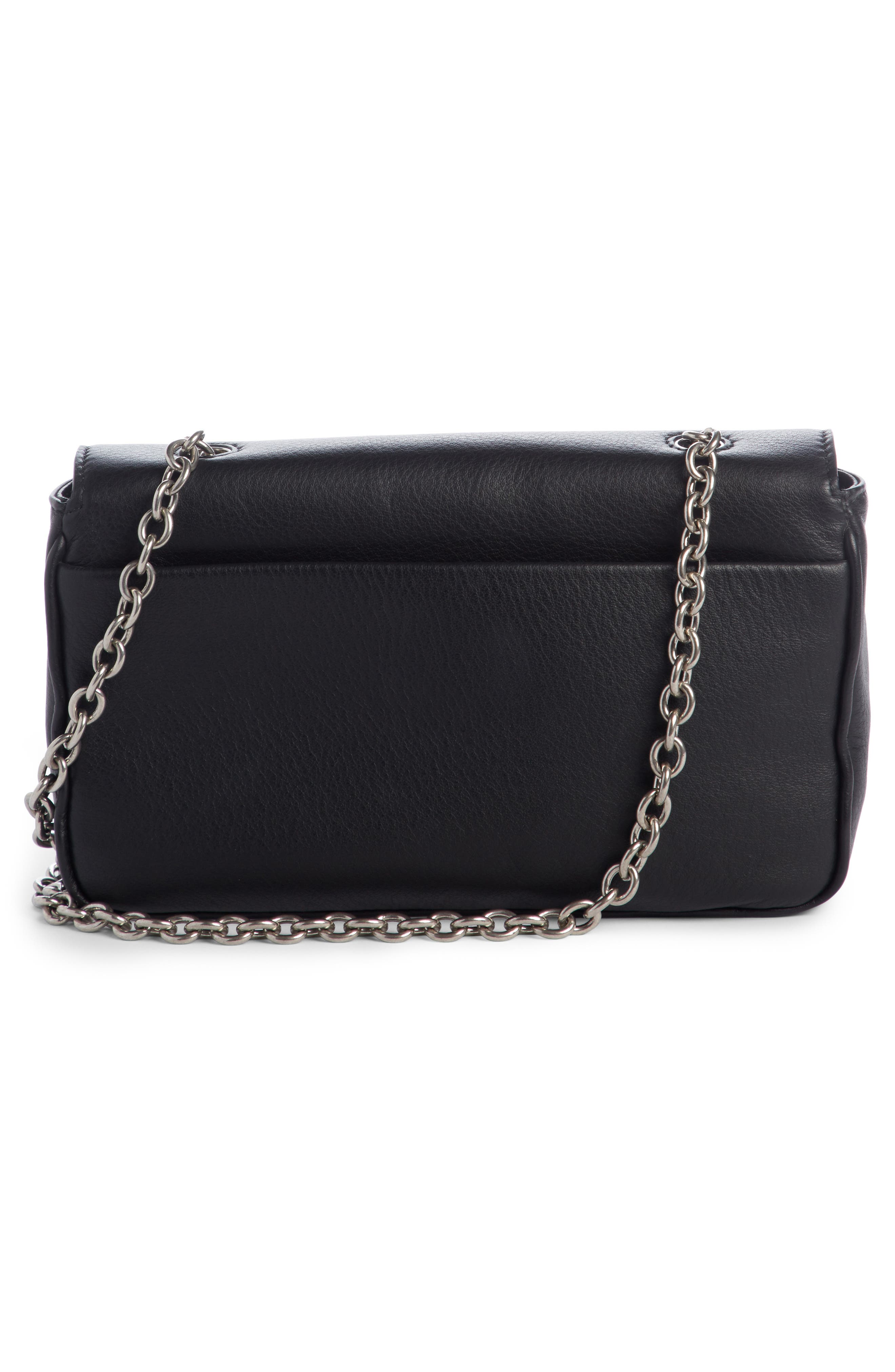 Everyday Calfskin Wallet on a Chain,                             Alternate thumbnail 2, color,                             Noir/ Blanc