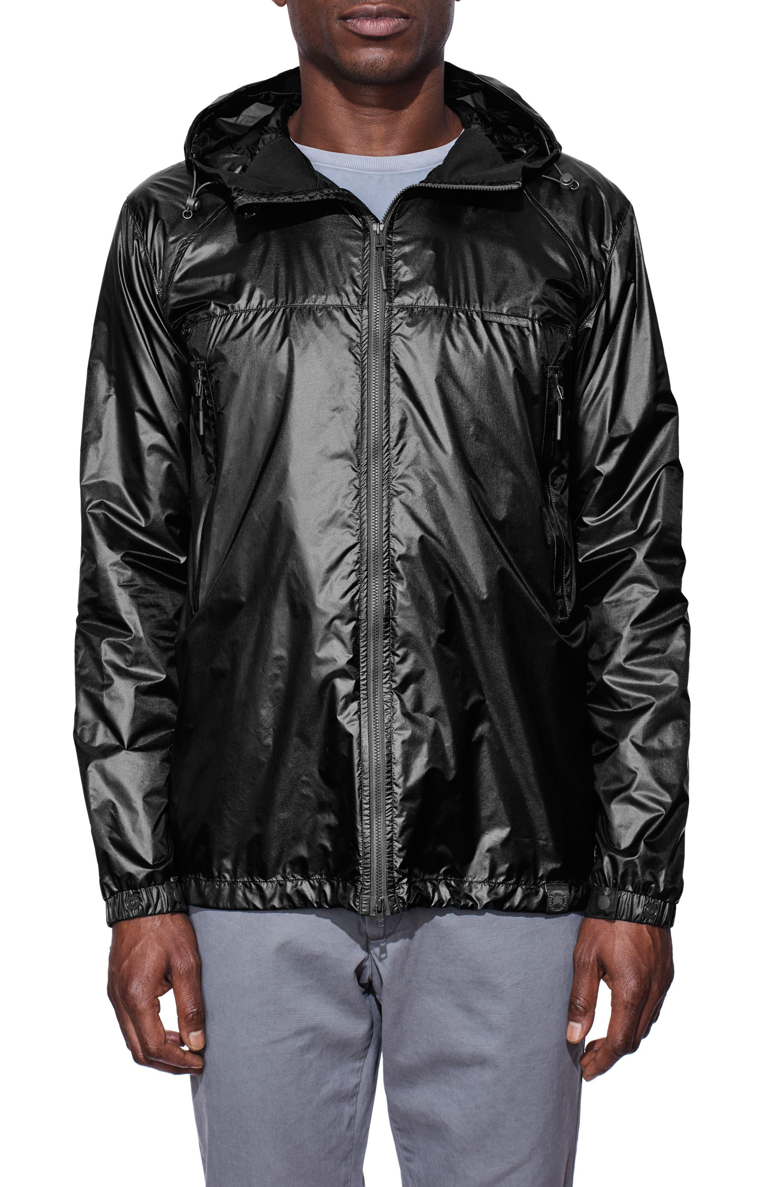 Sandpoint Windbreaker Jacket,                         Main,                         color, Black