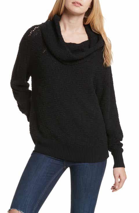 Women's Black Cowl Neck Sweaters   Nordstrom