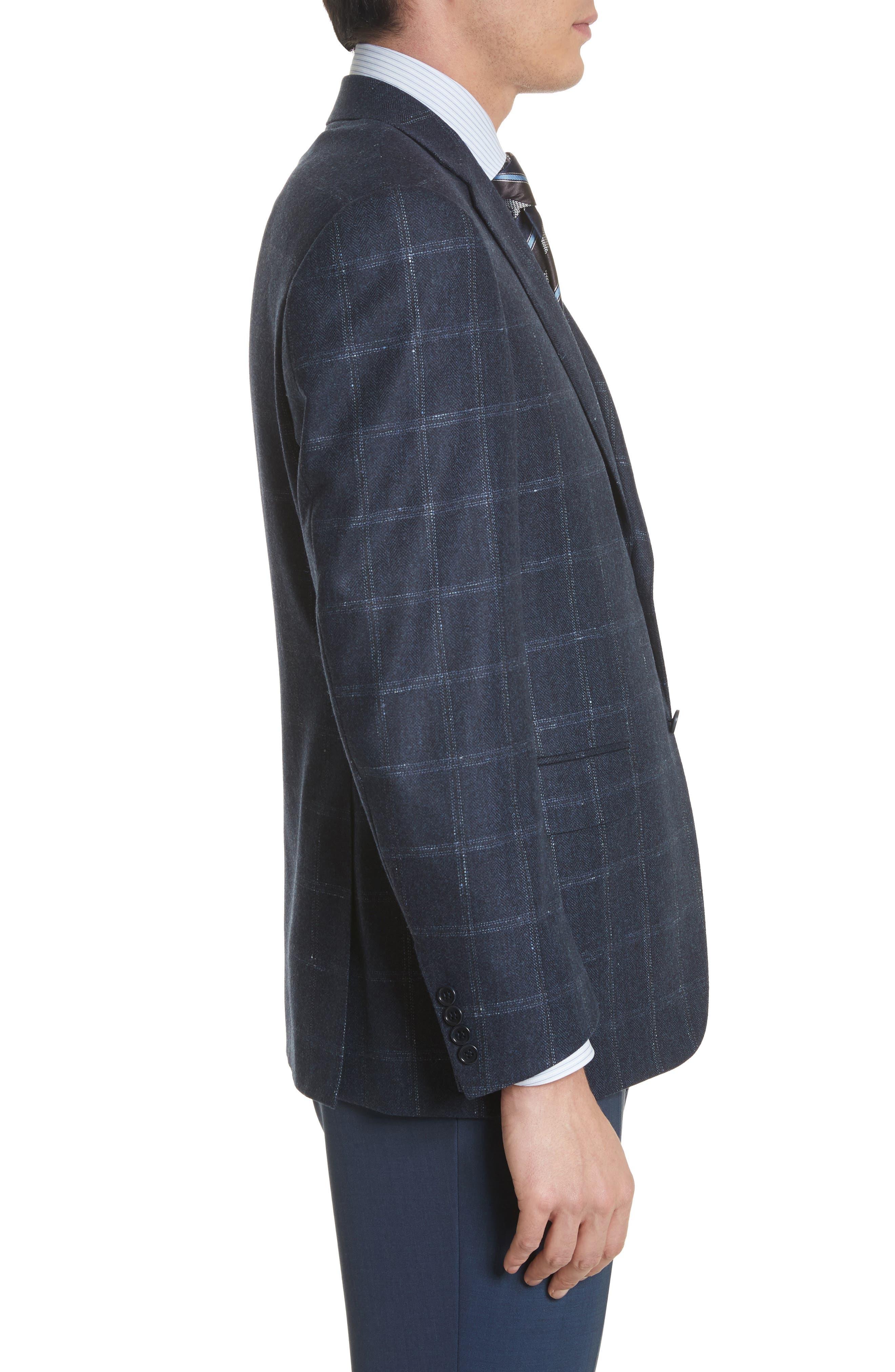 Alternate Image 3  - Canali Classic Fit Windowpane Wool & Cashmere Sport Coat
