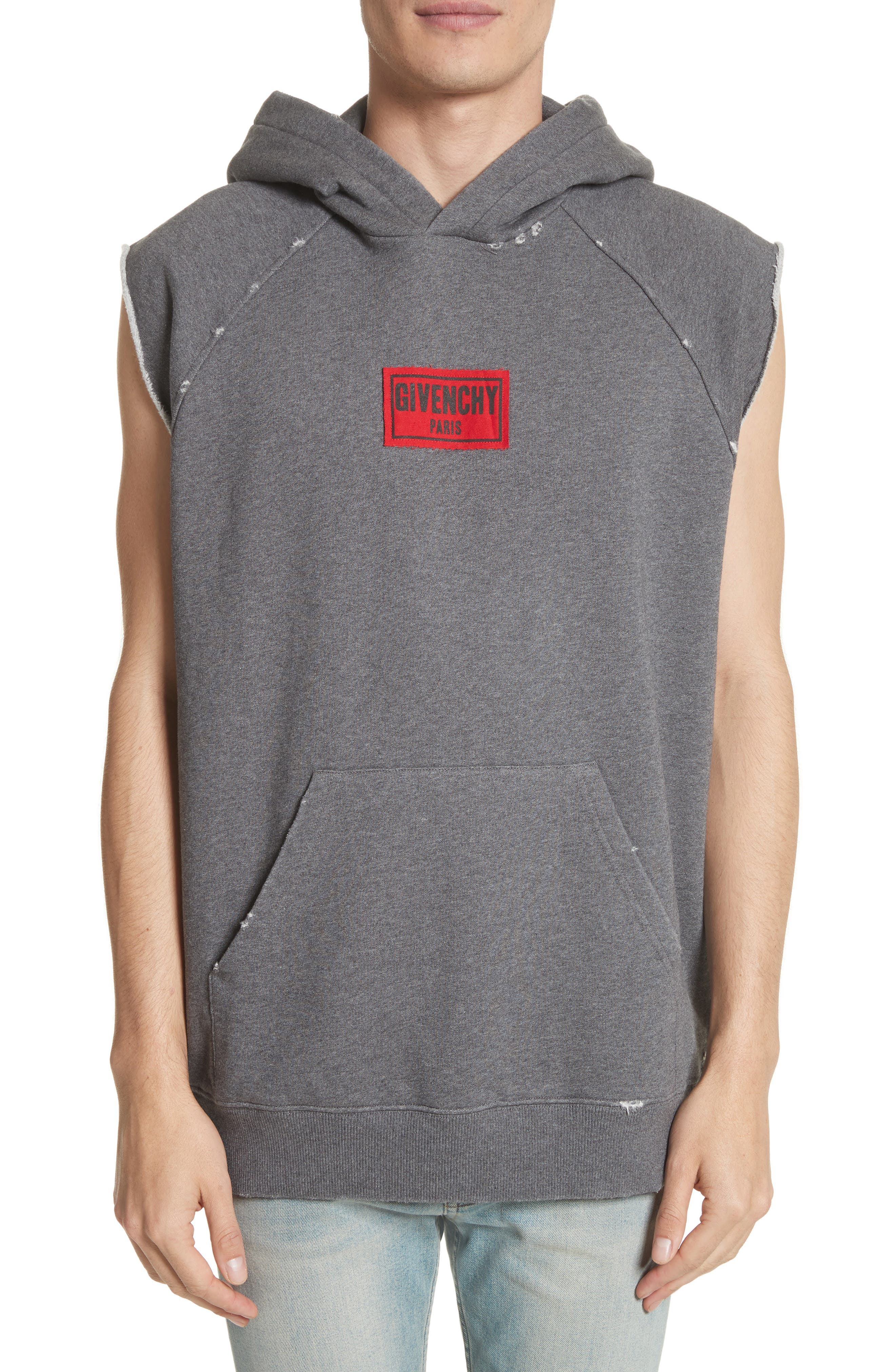 Alternate Image 1 Selected - Givenchy Small Logo Sleeveless Hoodie