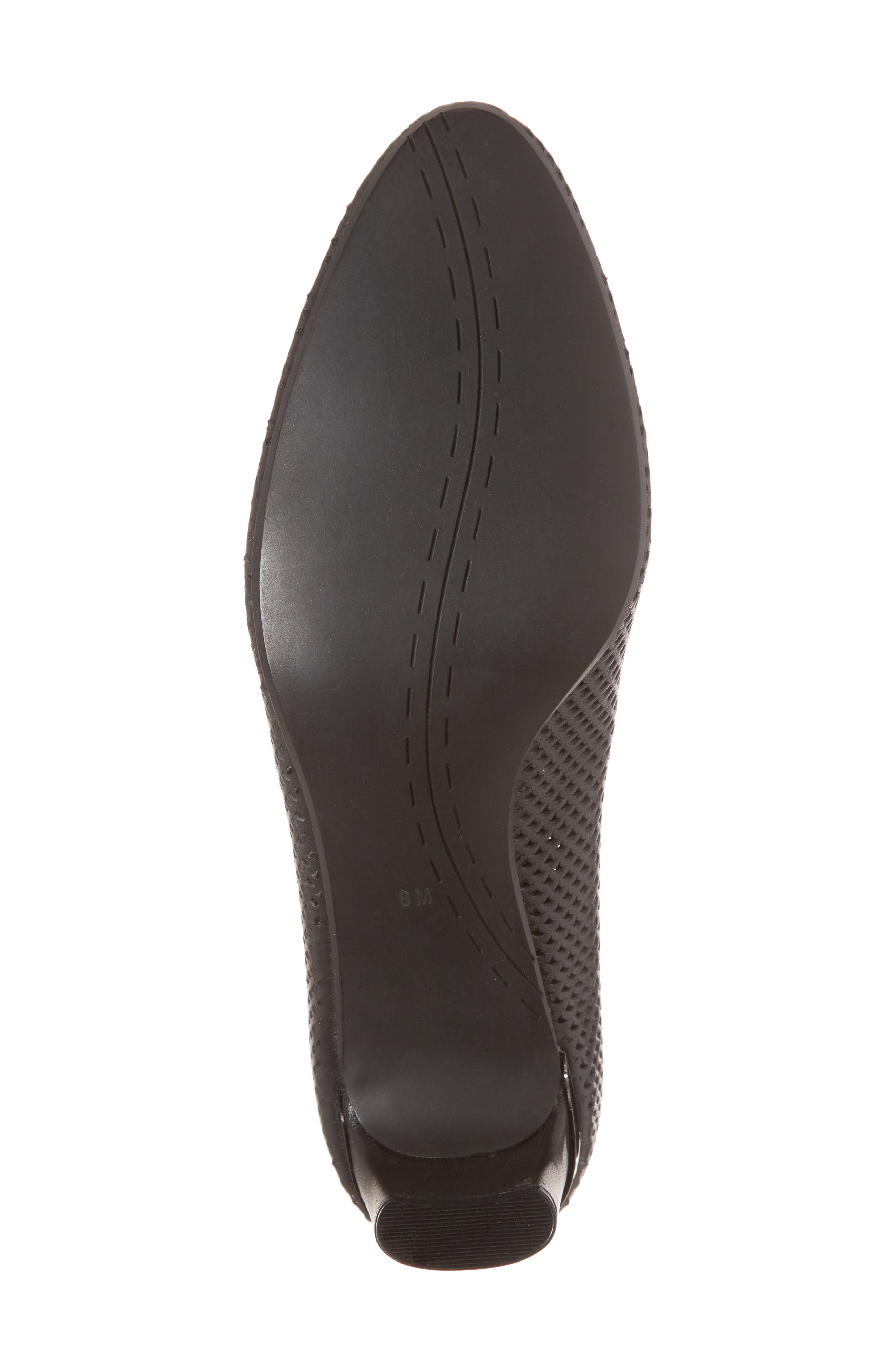 Dawne Pump,                             Alternate thumbnail 6, color,                             Black Leather