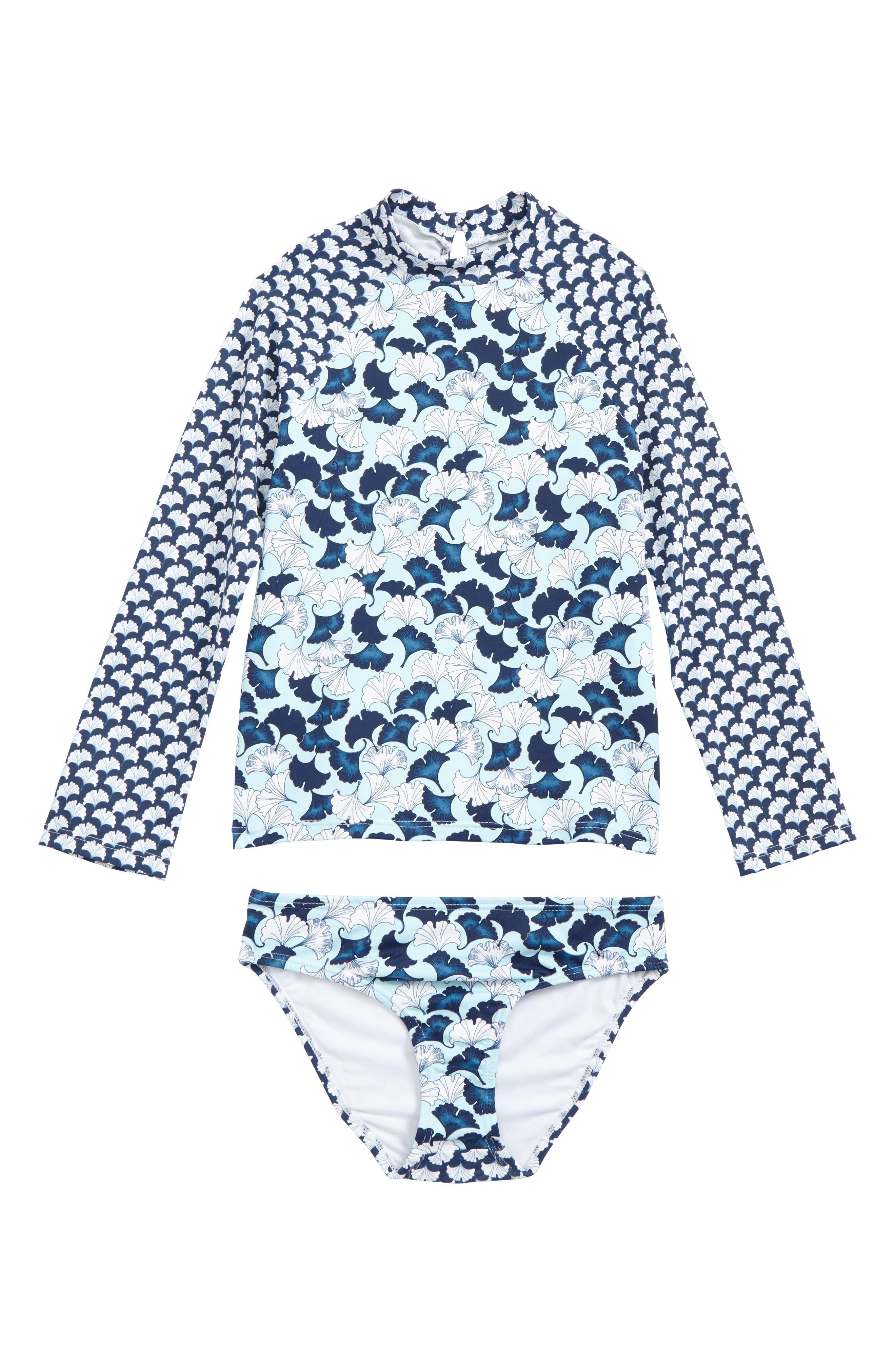Lotto Two-Piece Rashguard Swimsuit,                         Main,                         color, Lotto