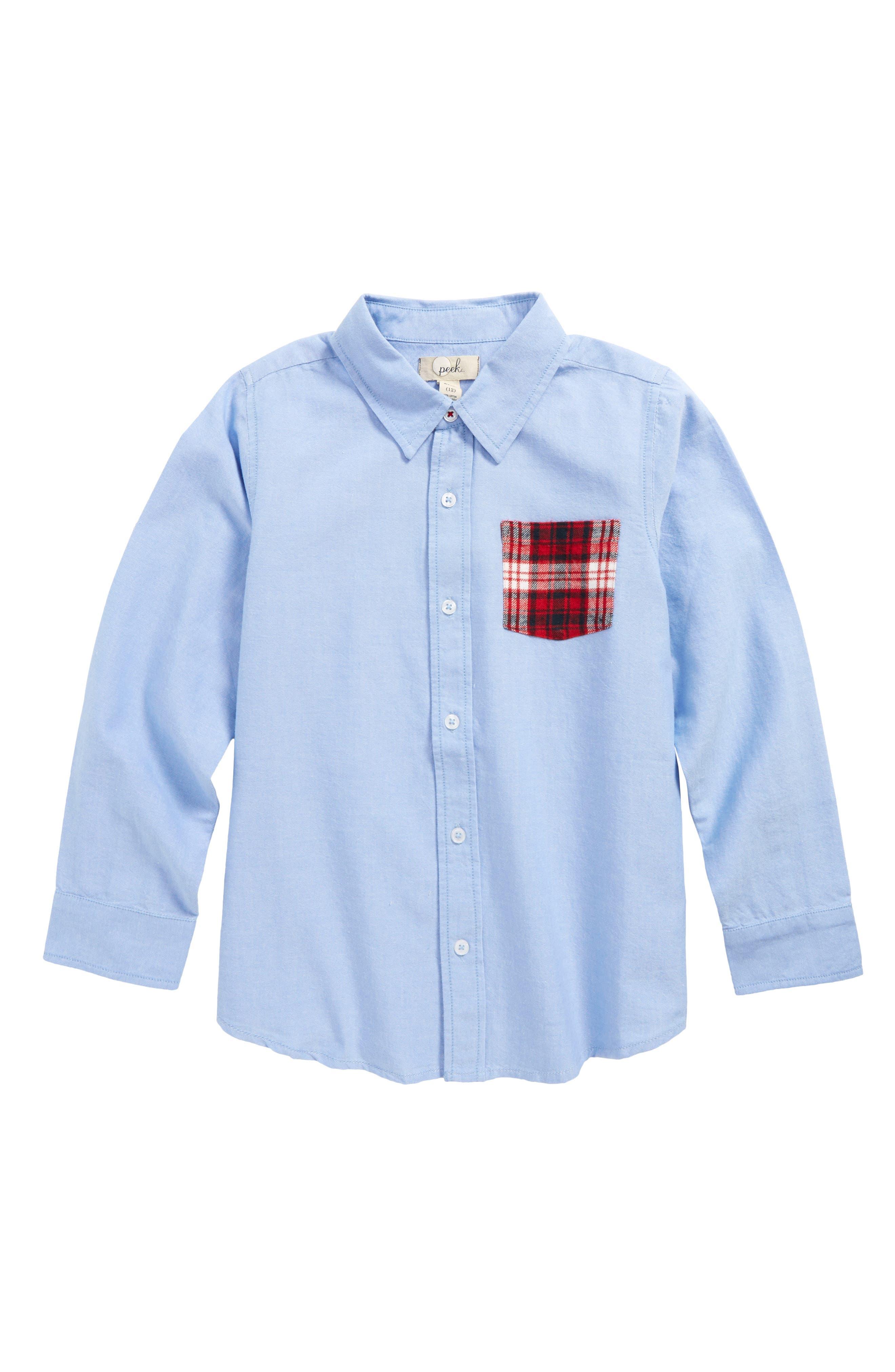 Main Image - Peek Johnny Oxford Shirt (Toddler Boys, Little Boys & Big Boys)