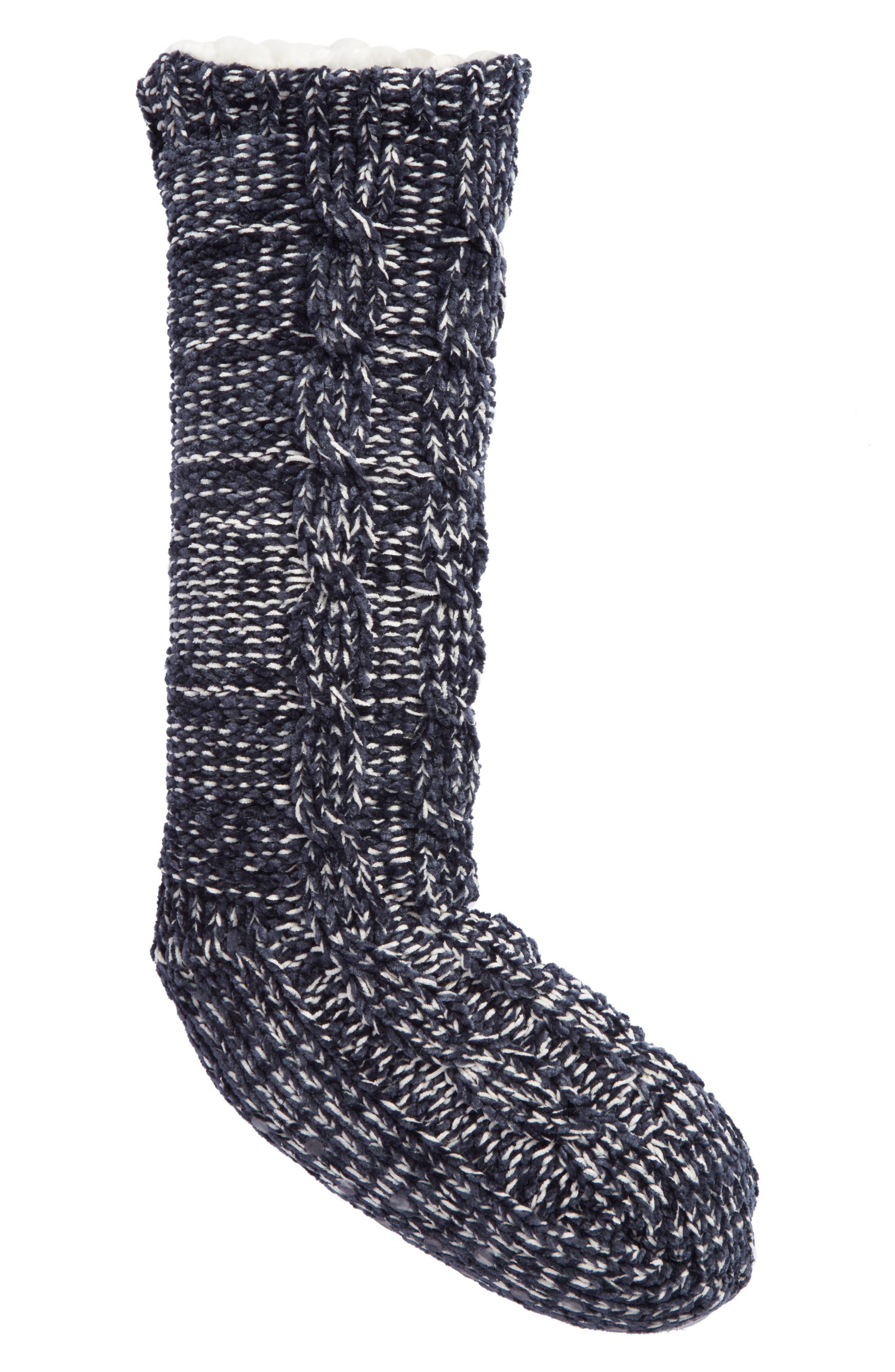 Main Image - Make + Model Cable Knit Slipper Socks