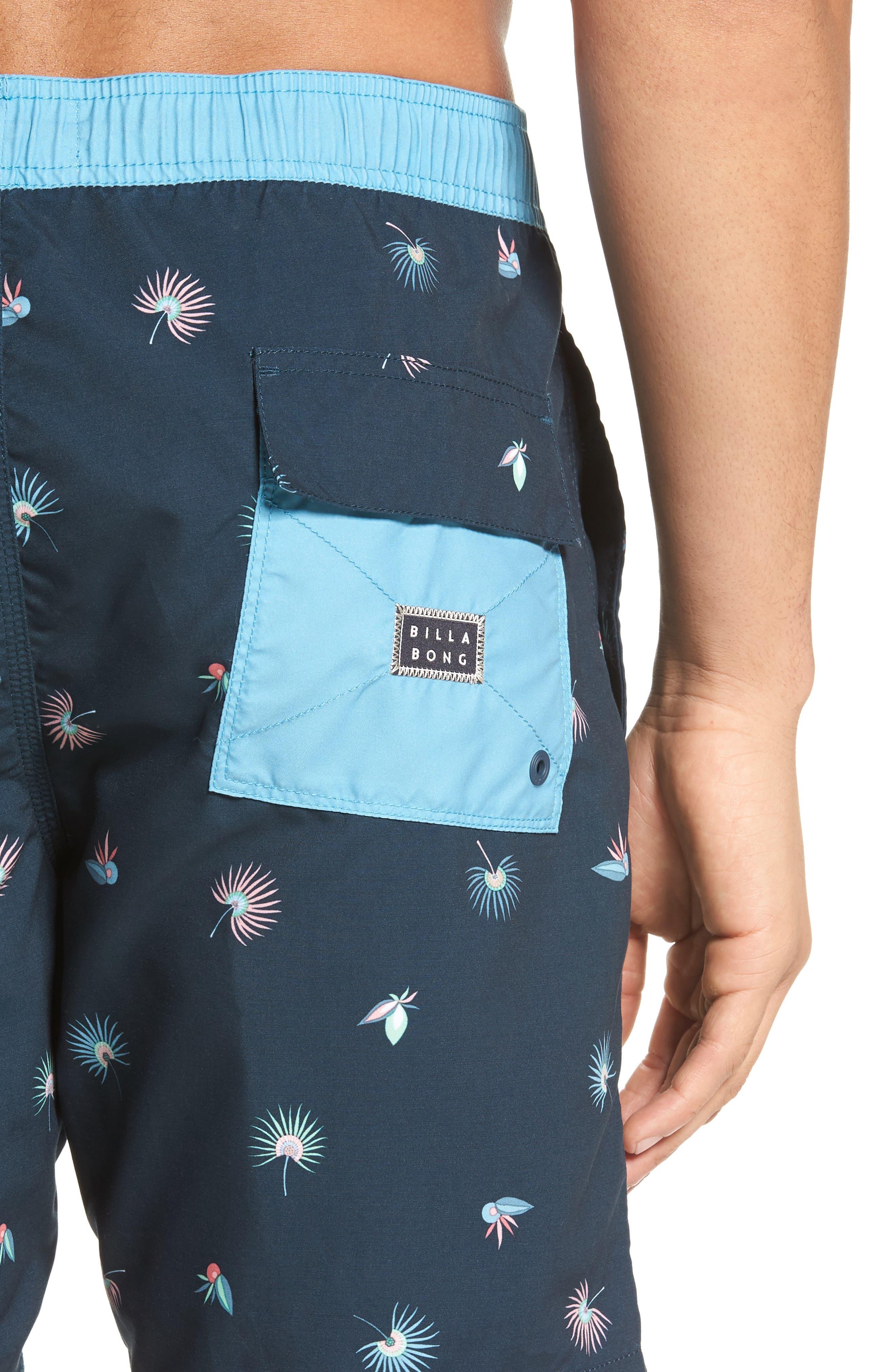 Tribong Layback Board Shorts,                             Alternate thumbnail 4, color,                             Blue