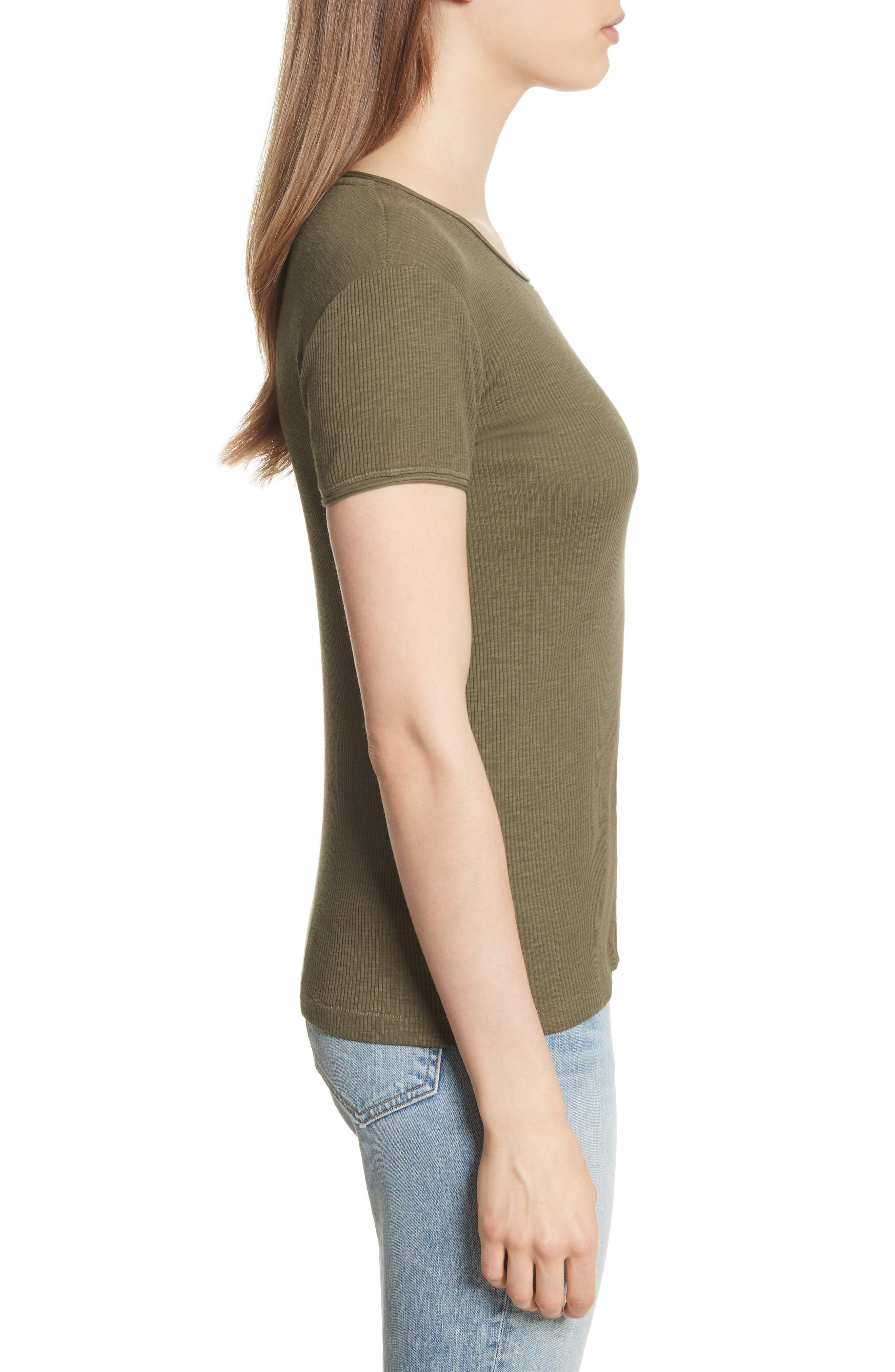 Lilies Tee,                             Alternate thumbnail 3, color,                             Dark Olive