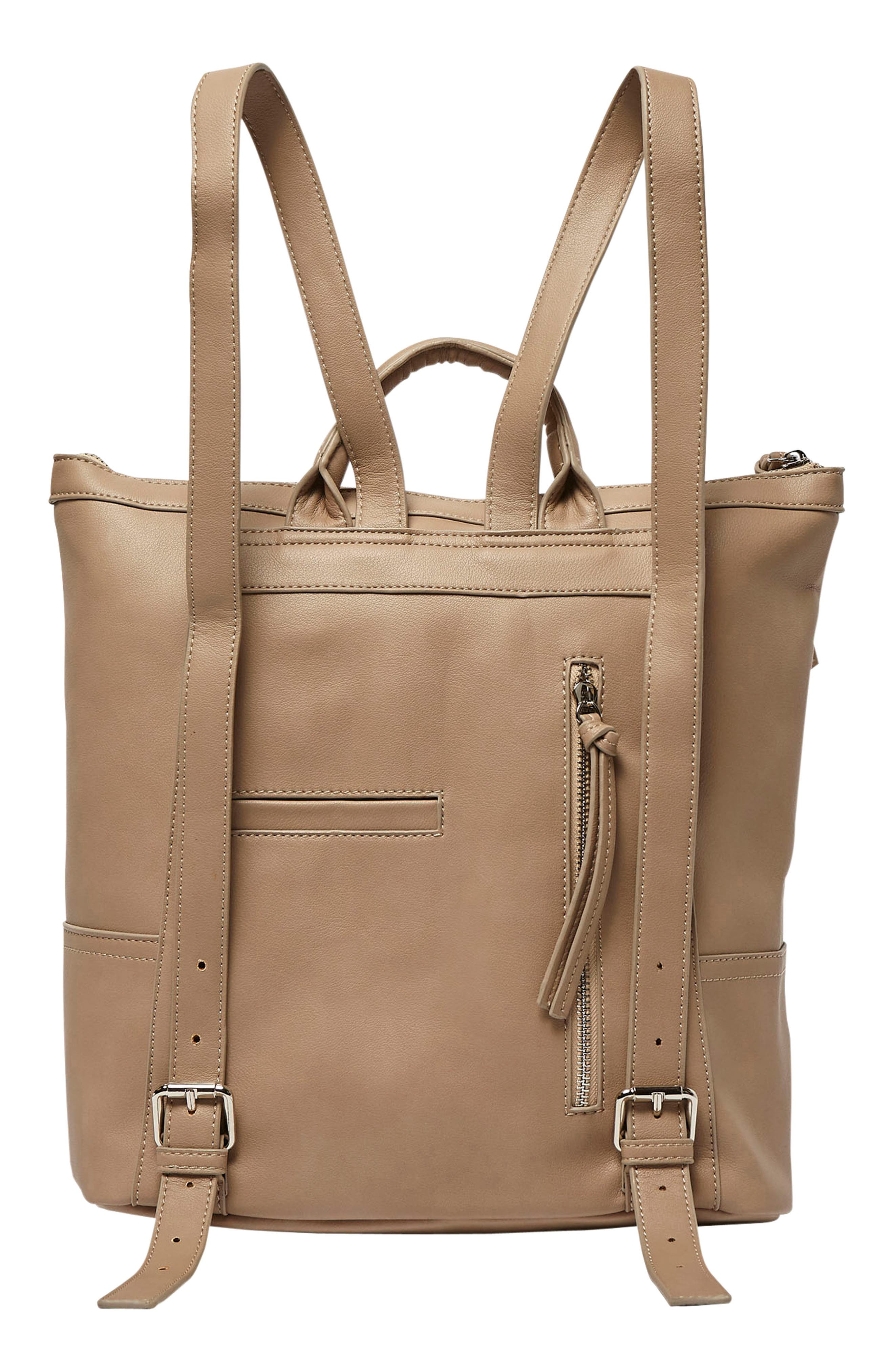 Eternity Vegan Leather Backpack,                             Alternate thumbnail 4, color,                             Taupe