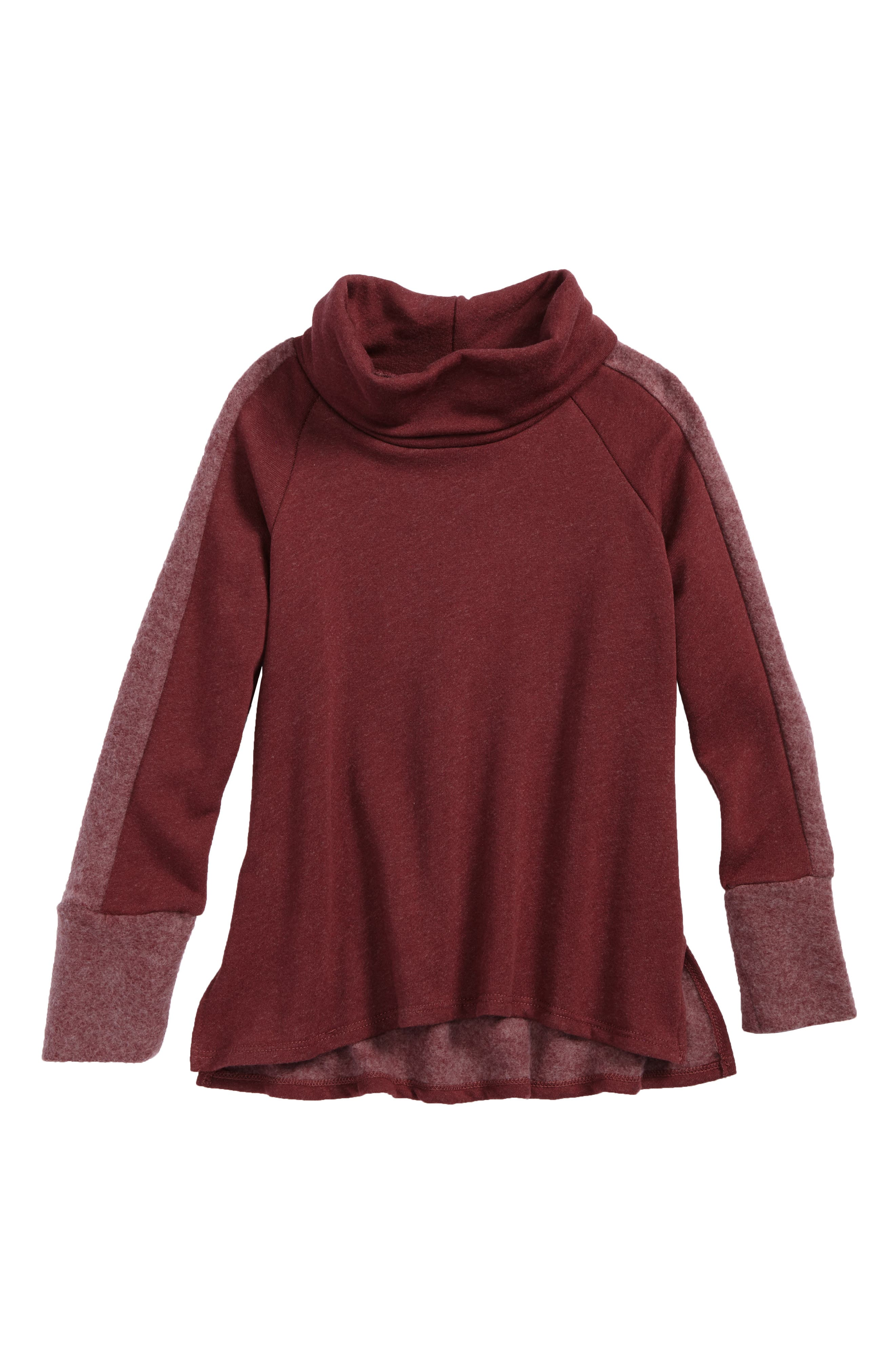 Cowl Neck Pullover,                         Main,                         color, Red