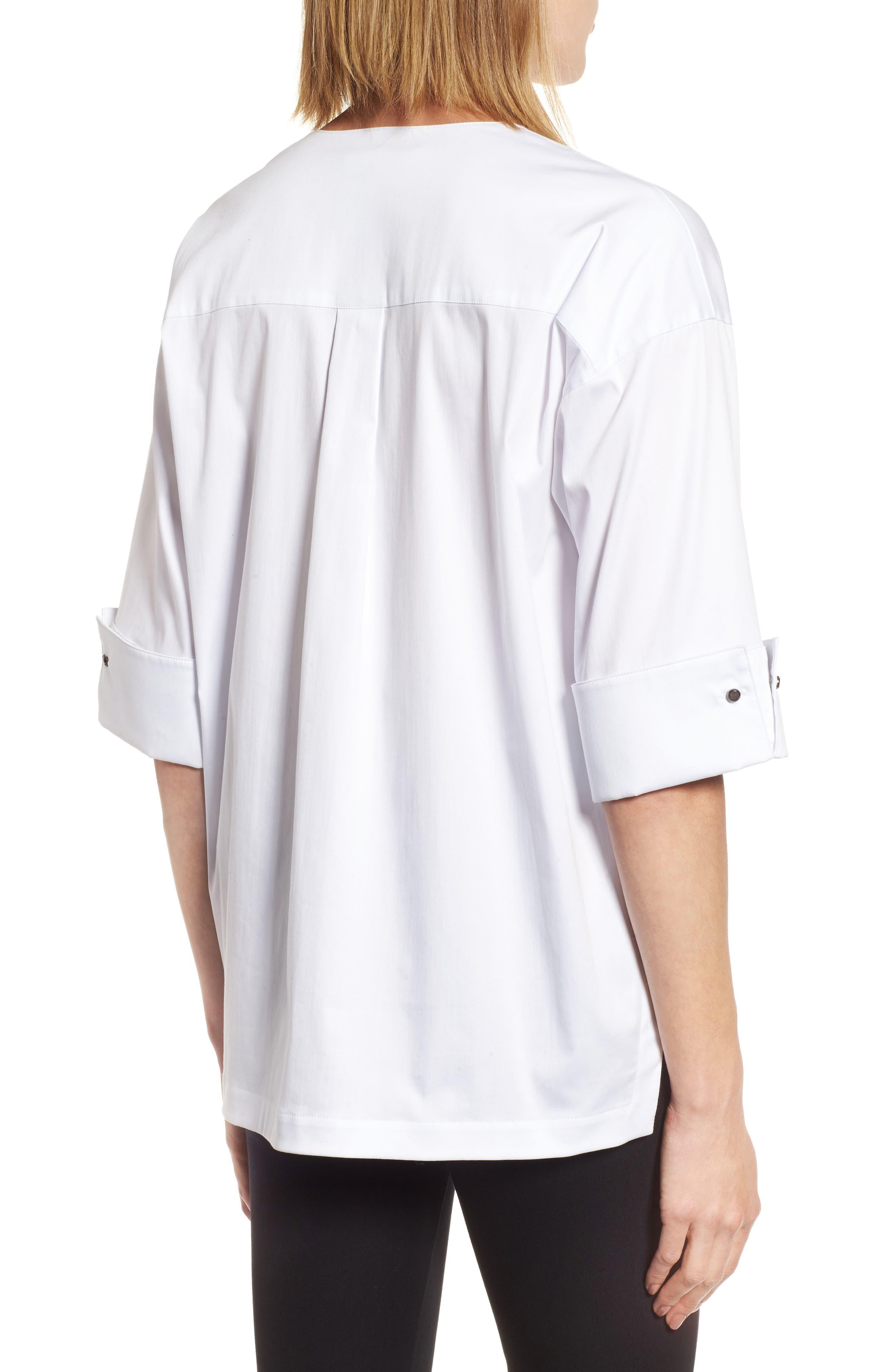 Woven Shirt Jacket,                             Alternate thumbnail 2, color,                             White