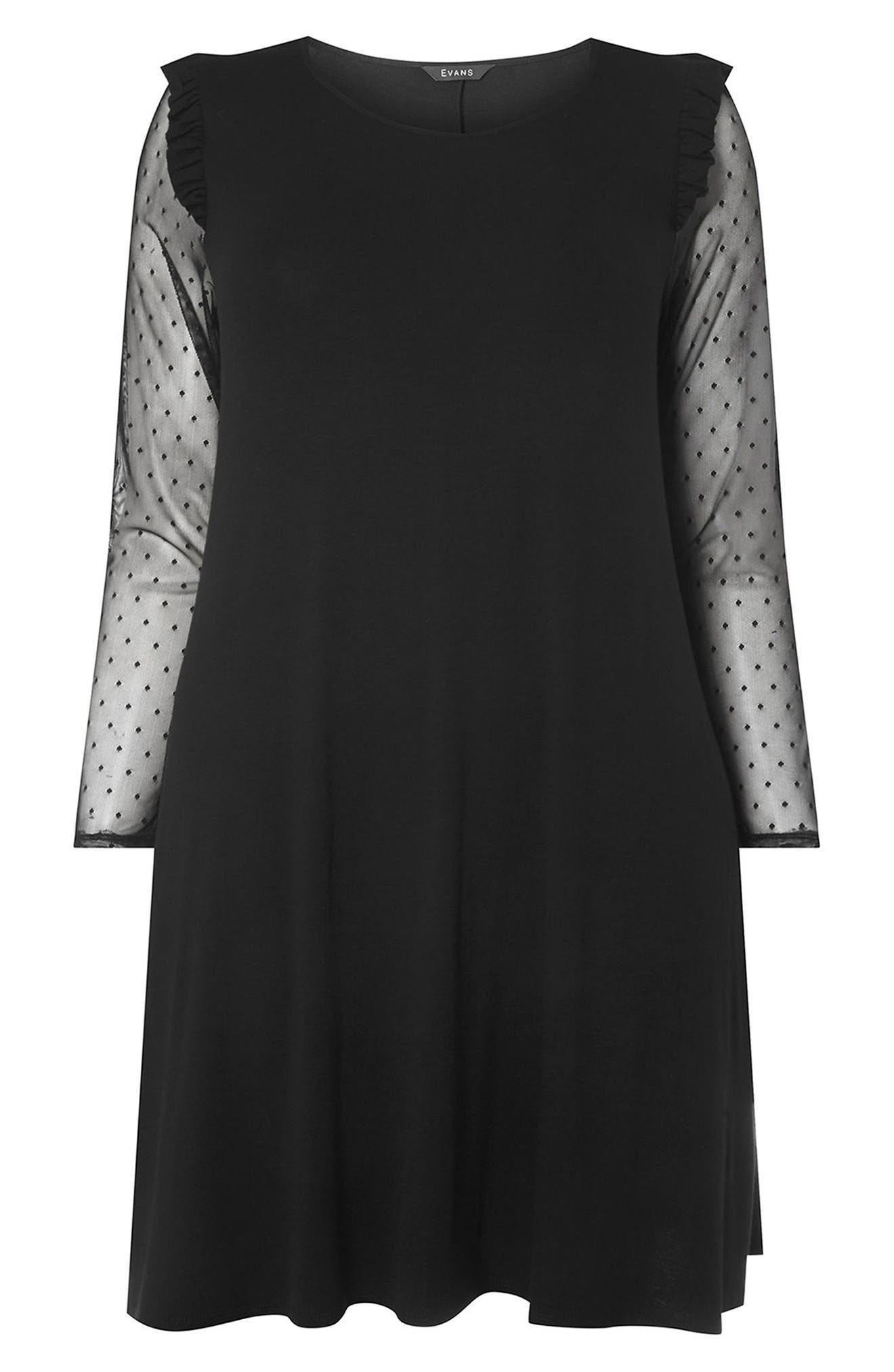 Alternate Image 4  - Evans Mesh Sleeve Tunic (Plus Size)