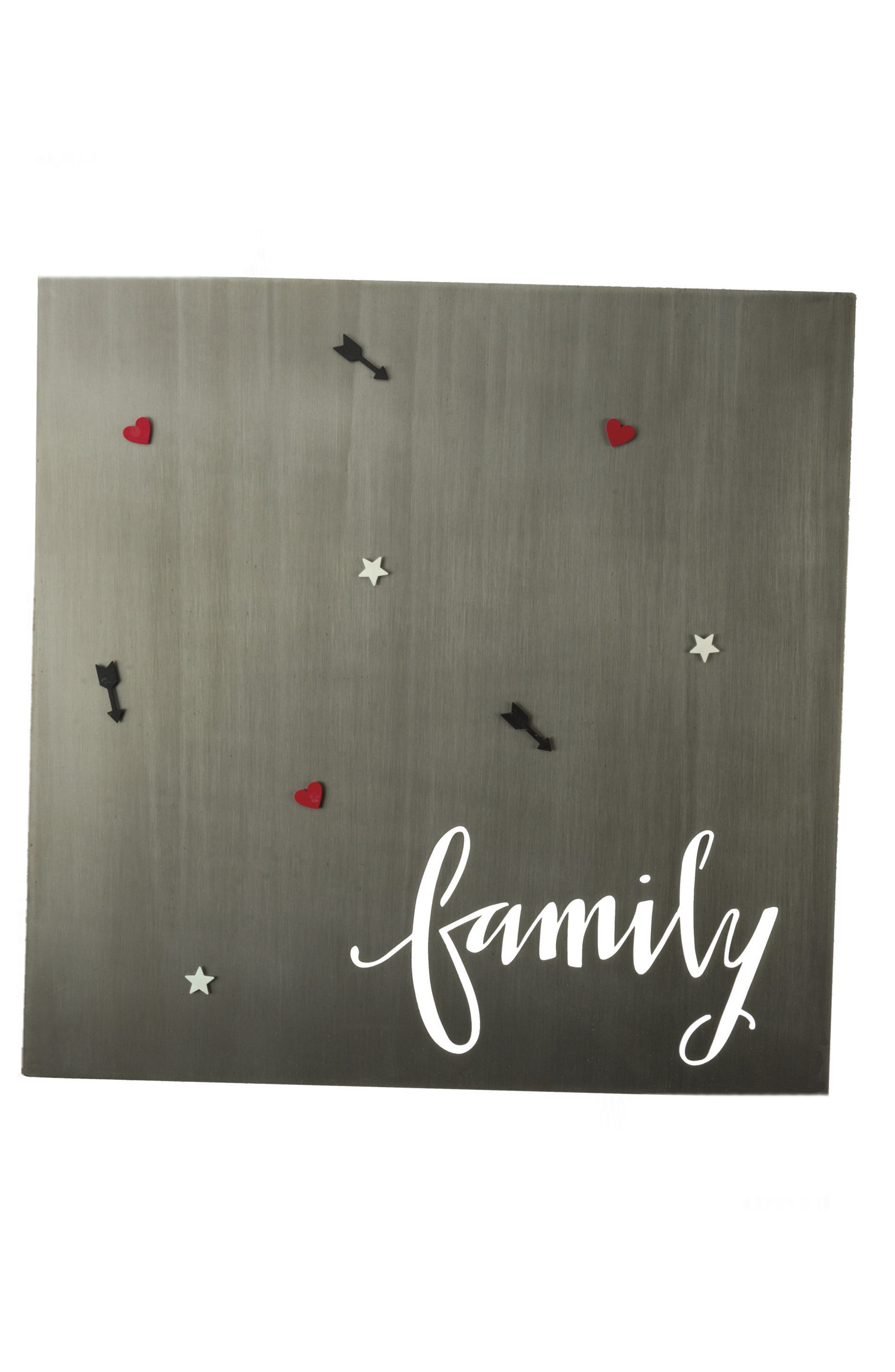 Family Metal Magnet Board,                             Main thumbnail 1, color,                             Silver