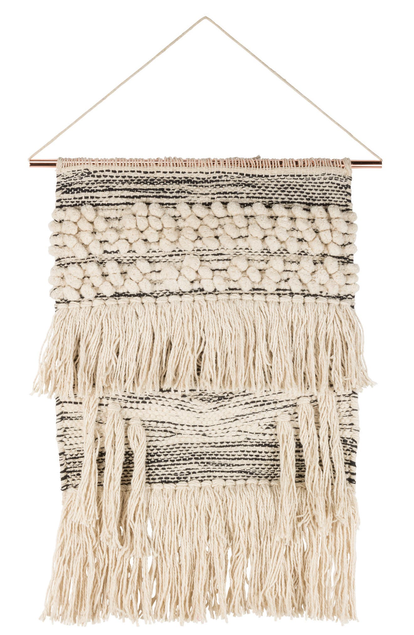 Wanderer Woven Wall Hanging,                         Main,                         color, Ivory