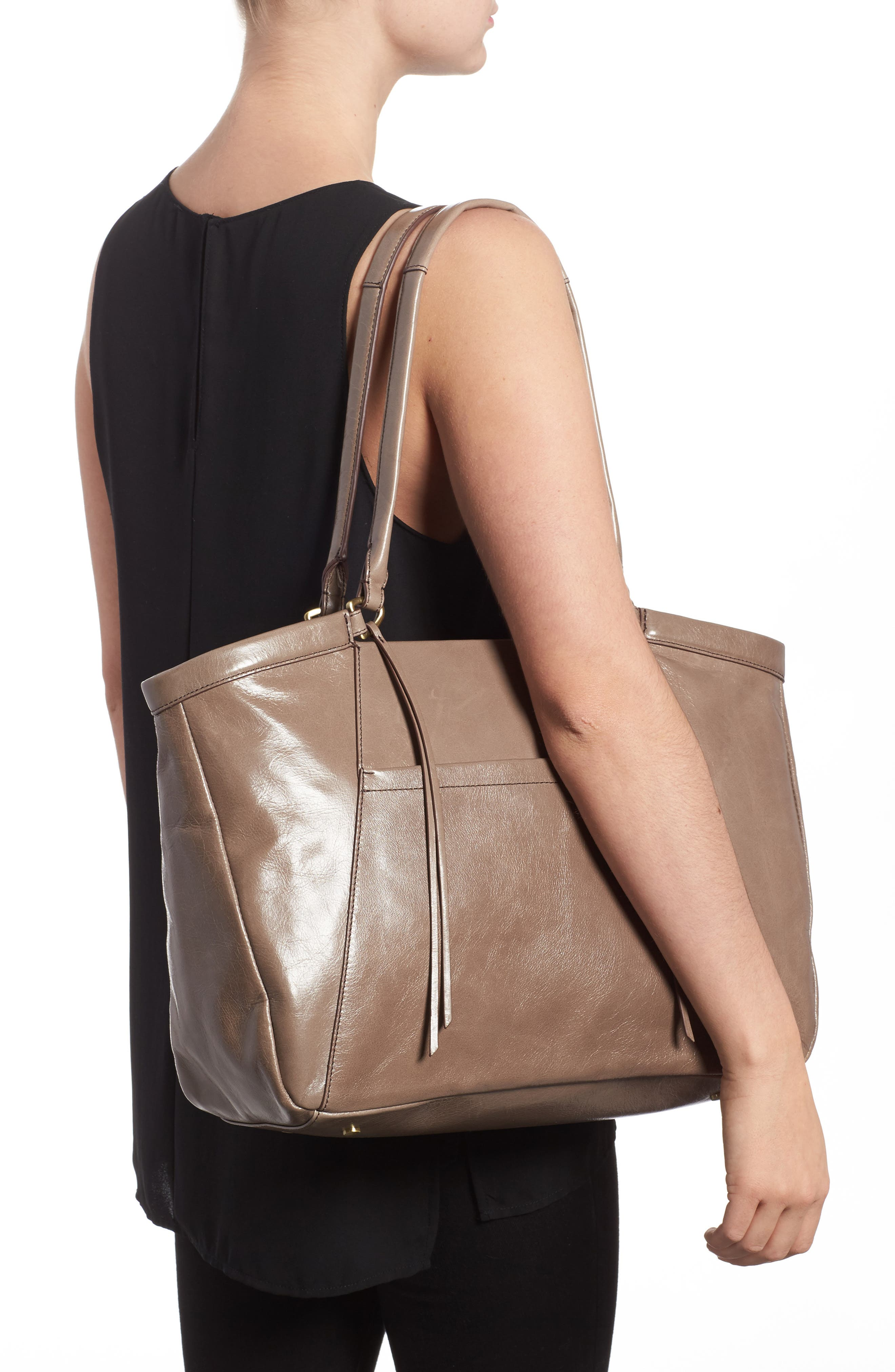 Maryanna Leather Tote,                             Alternate thumbnail 2, color,                             Ash