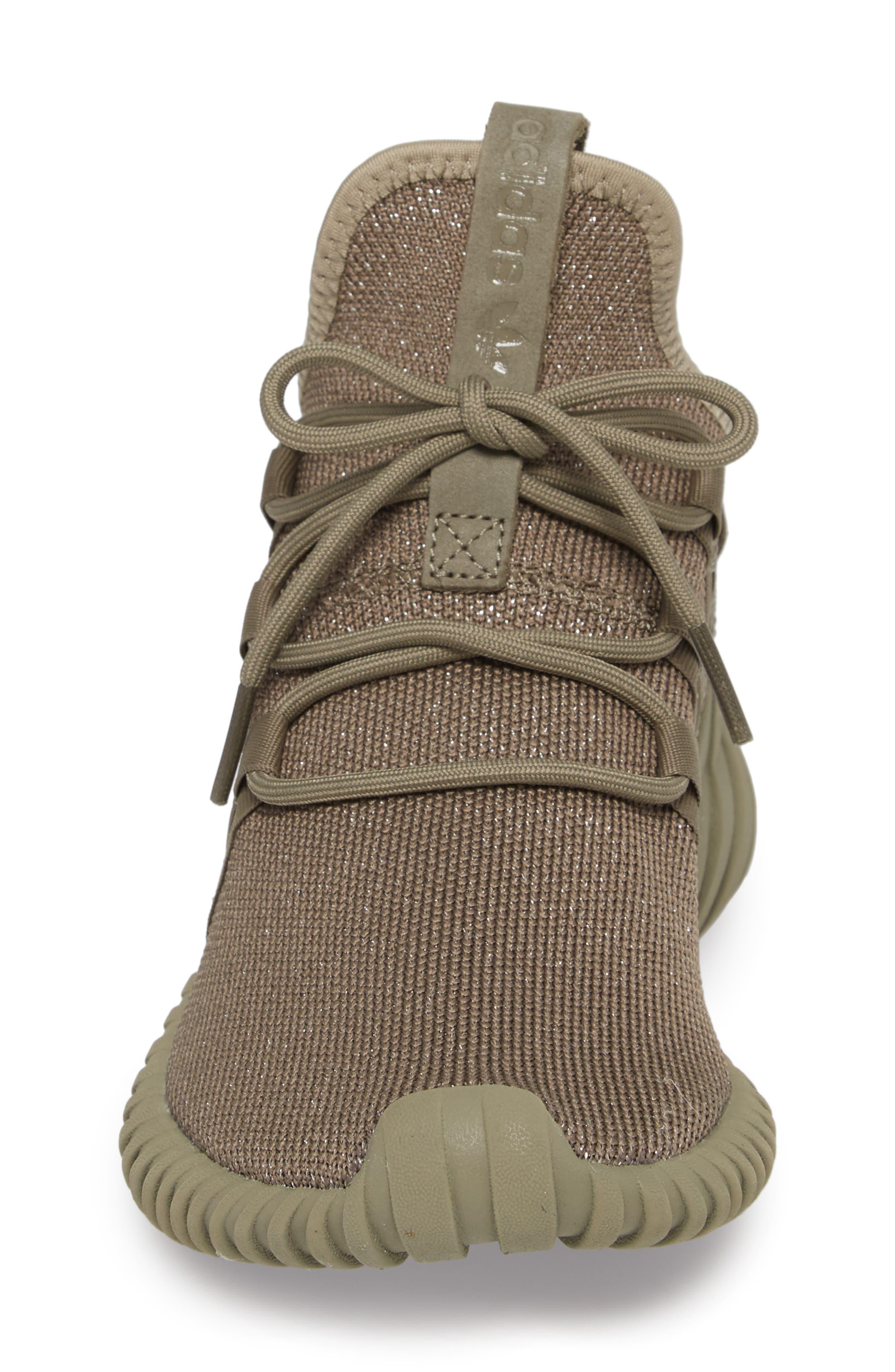 Tubular Dawn Primeknit Sneaker,                             Alternate thumbnail 4, color,                             Trace Cargo