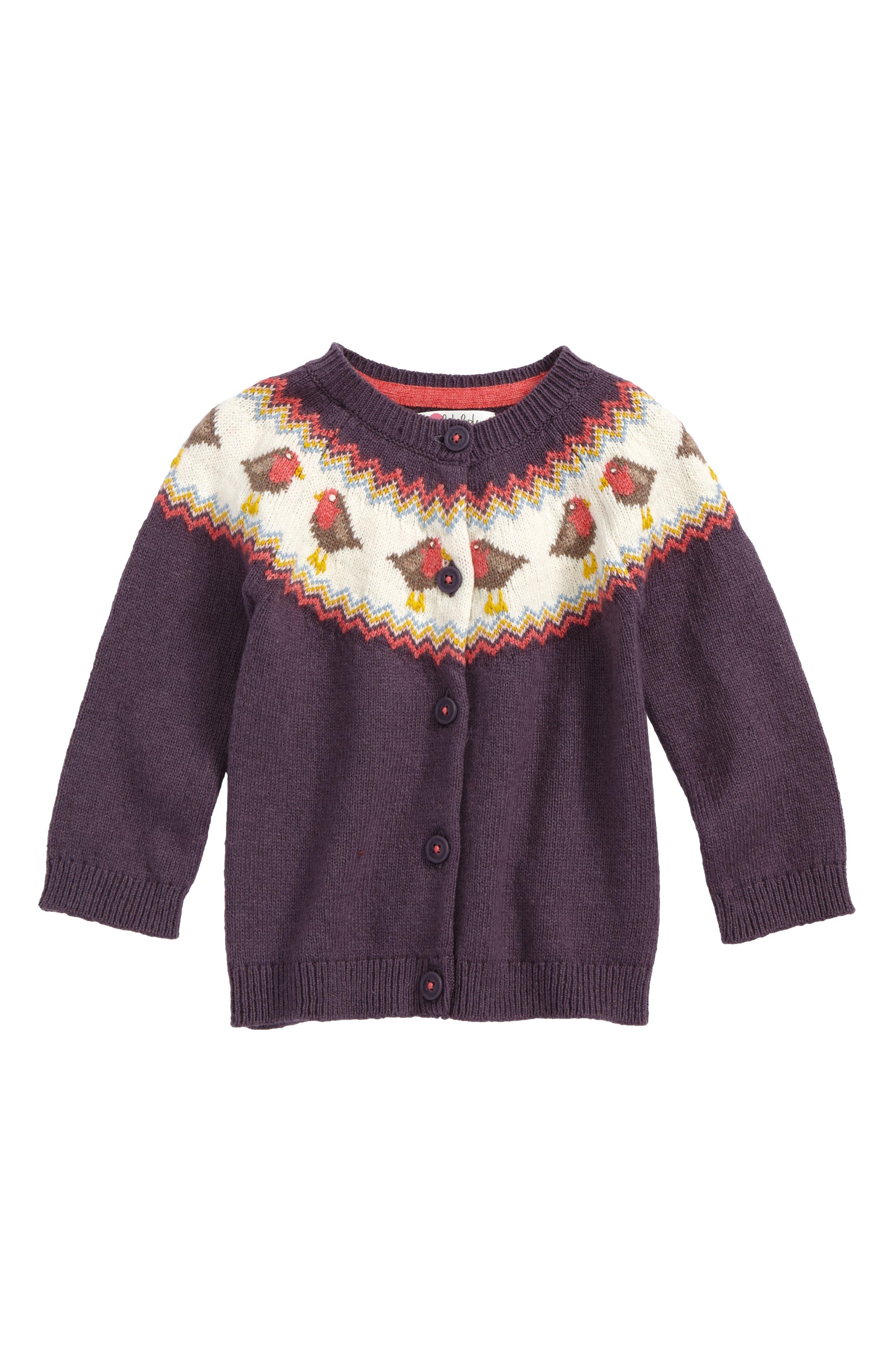 Mini Boden Fair Isle Cardigan (Baby Girls & Toddler Girls) | Nordstrom