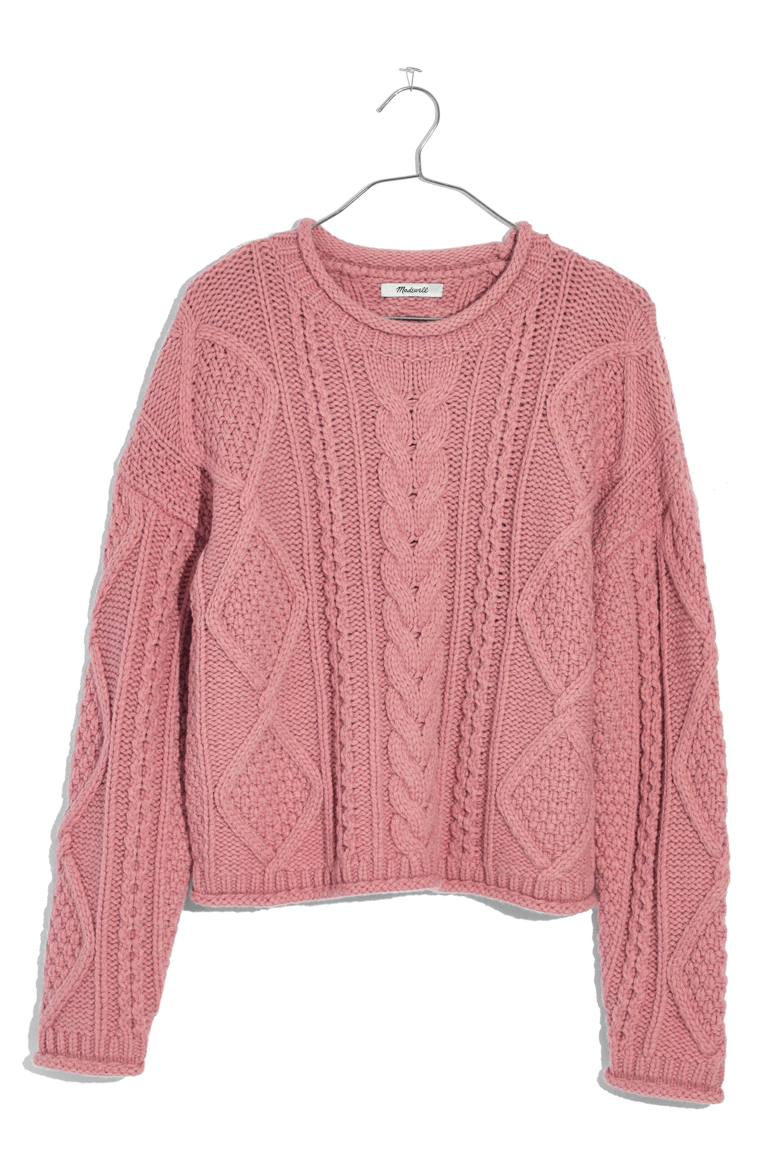 Madewell Slope Cable Pullover Sweater