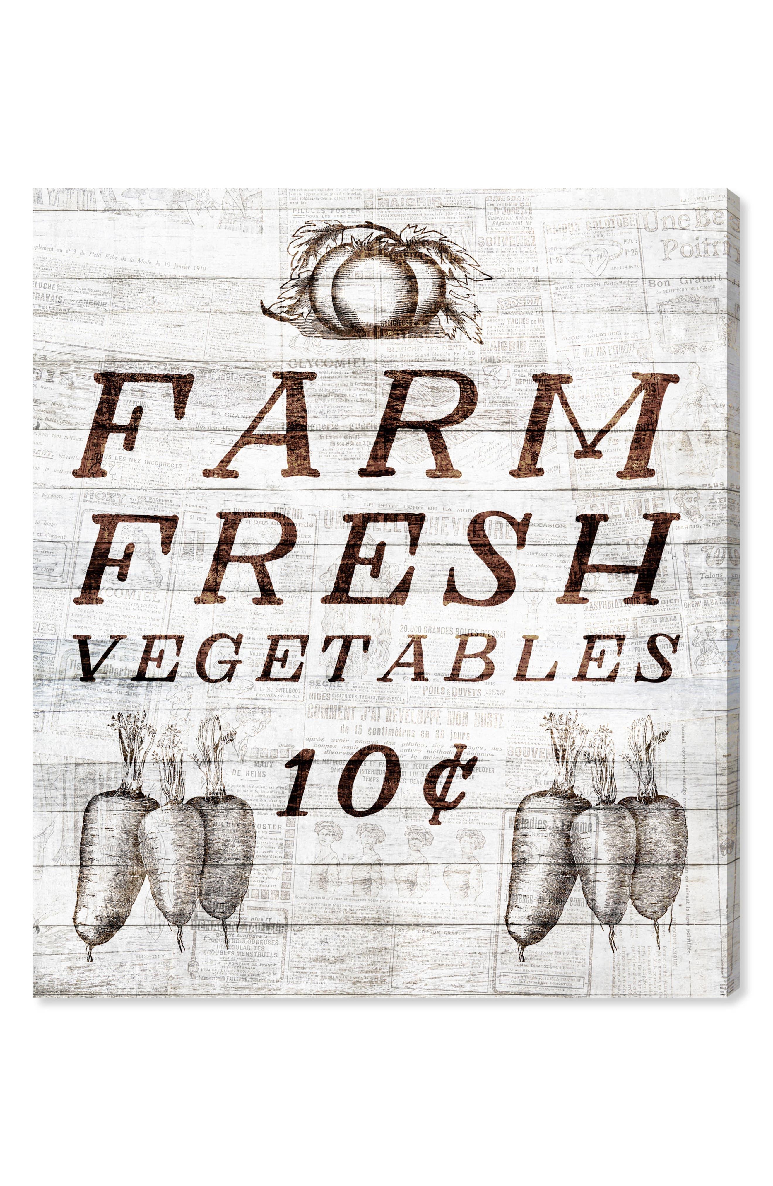 Oliver Gal Farm Fresh Vegetables Canvas Wall Art