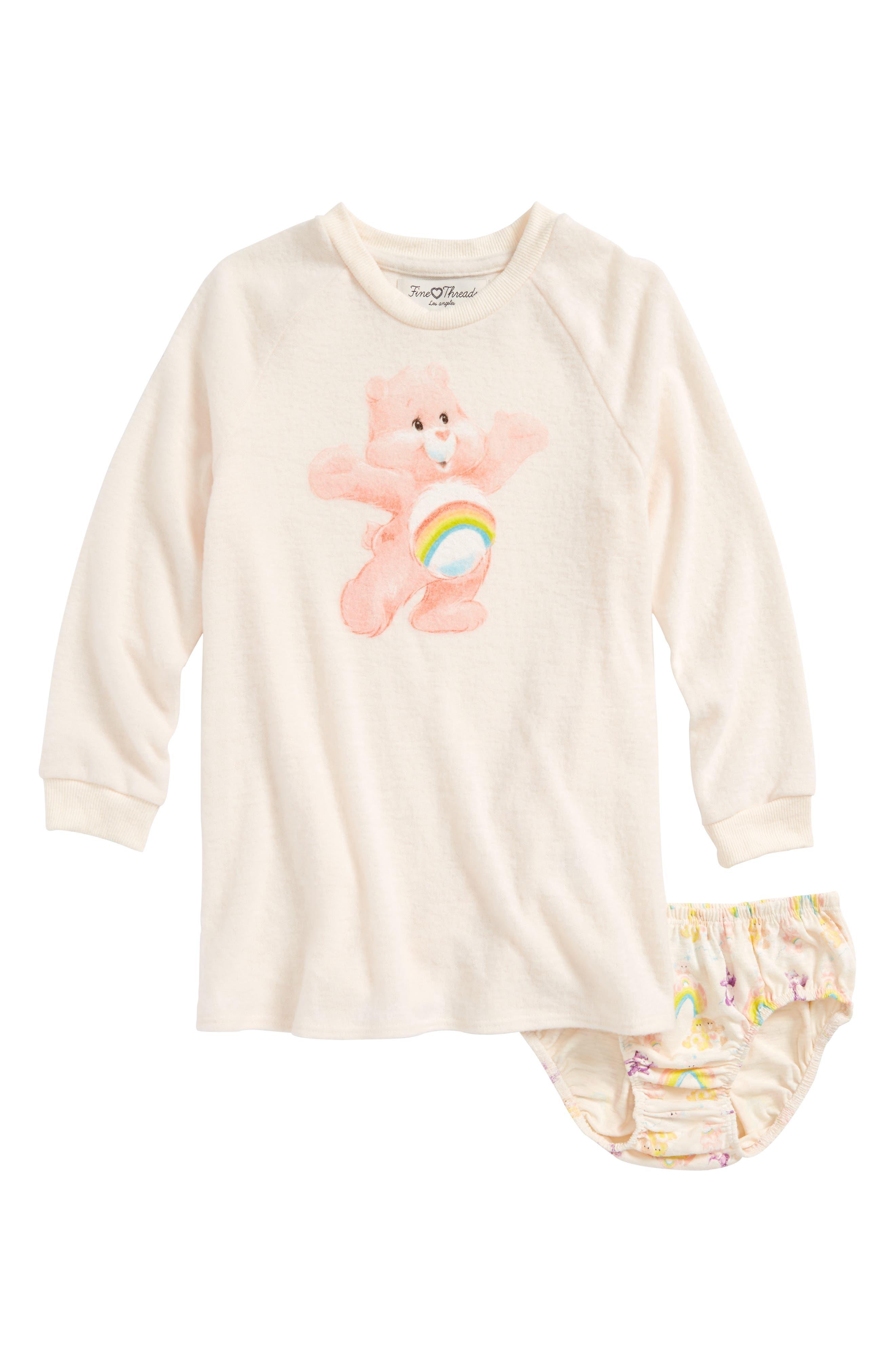 Main Image - Care Bears™ by Fine Threads Cheer Bear Dress (Toddler Girls & Little Girls)