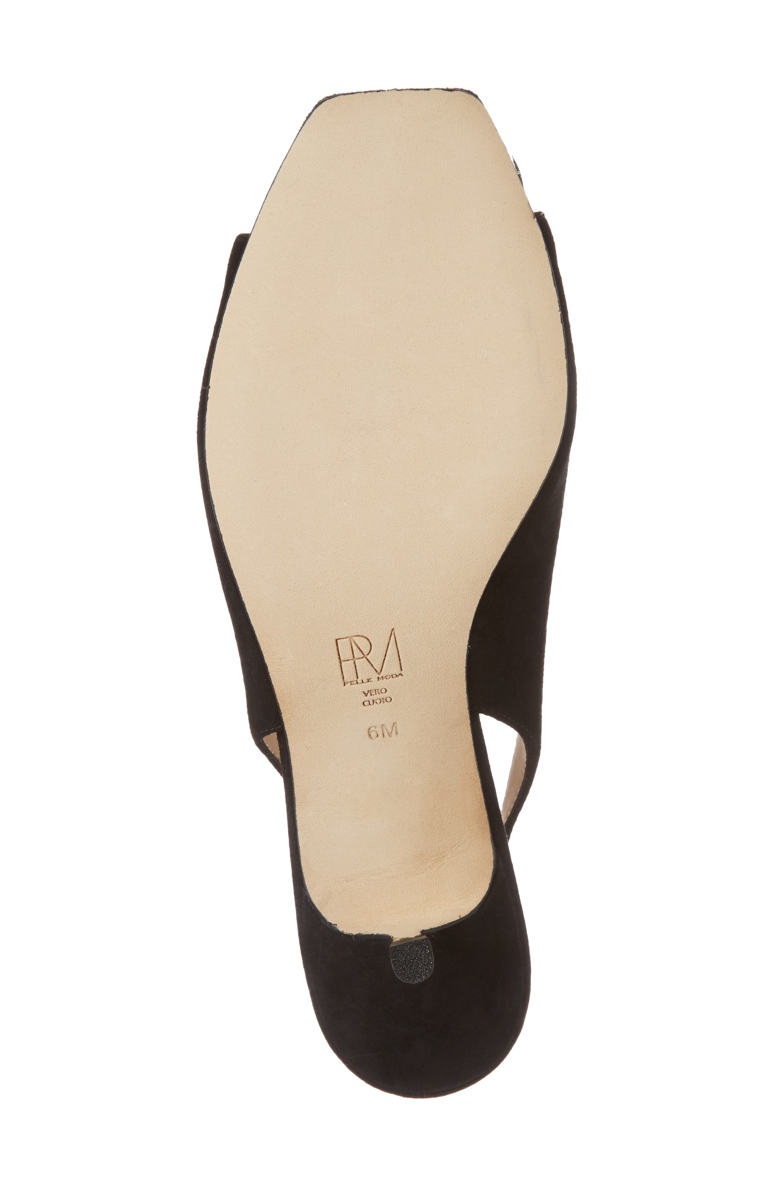 Fresca Slingback Sandal,                             Alternate thumbnail 6, color,                             Black Suede